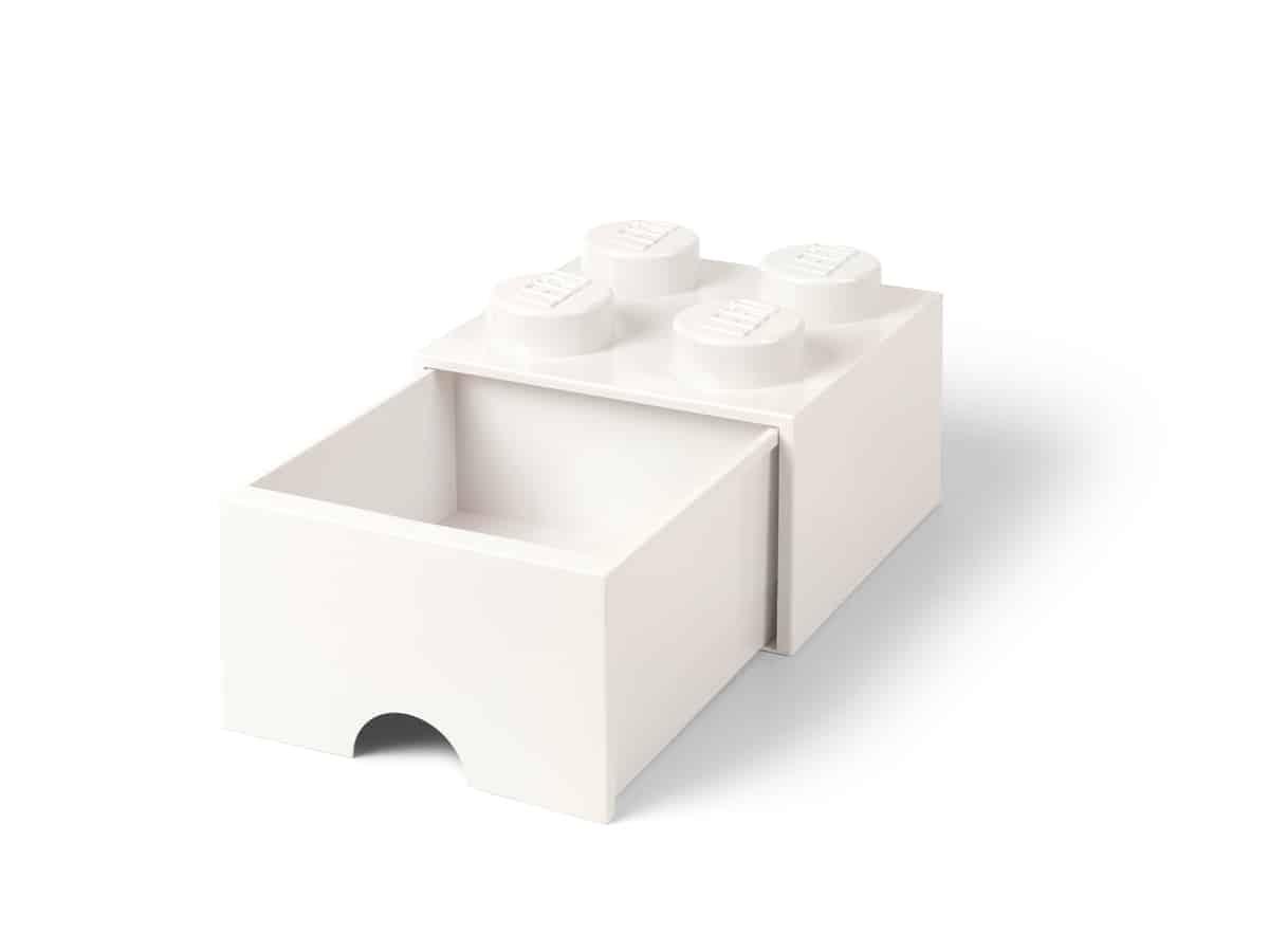 hvit lego 5006208 4 knotters oppbevaringskloss med skuff