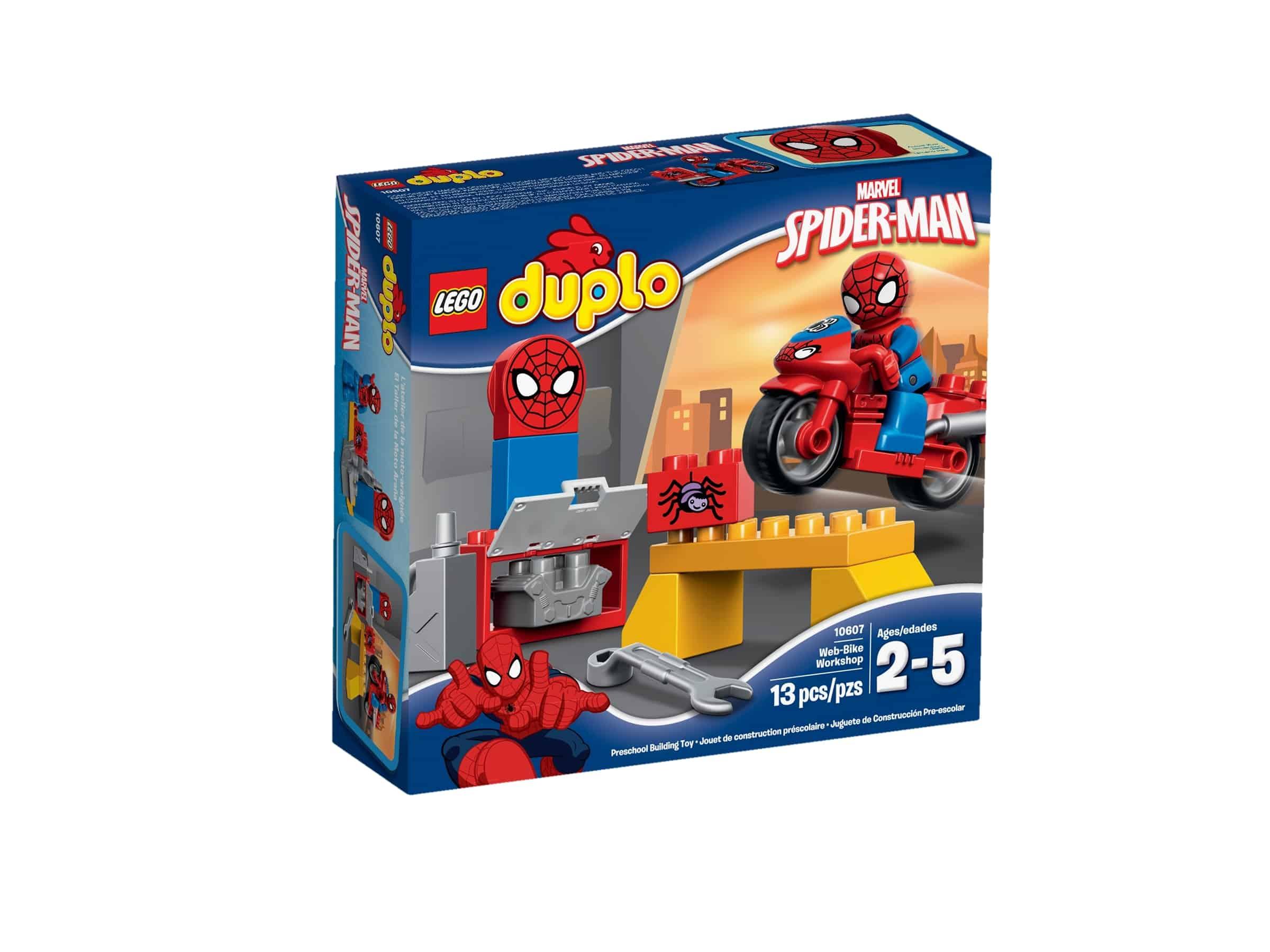 lego 10607 spider mans mc verksted