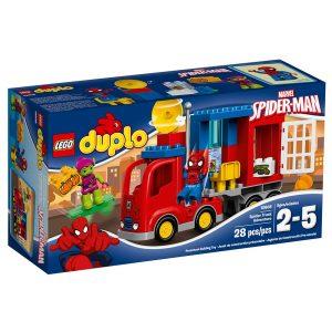 lego 10608 pa eventyr med spider mans trailer