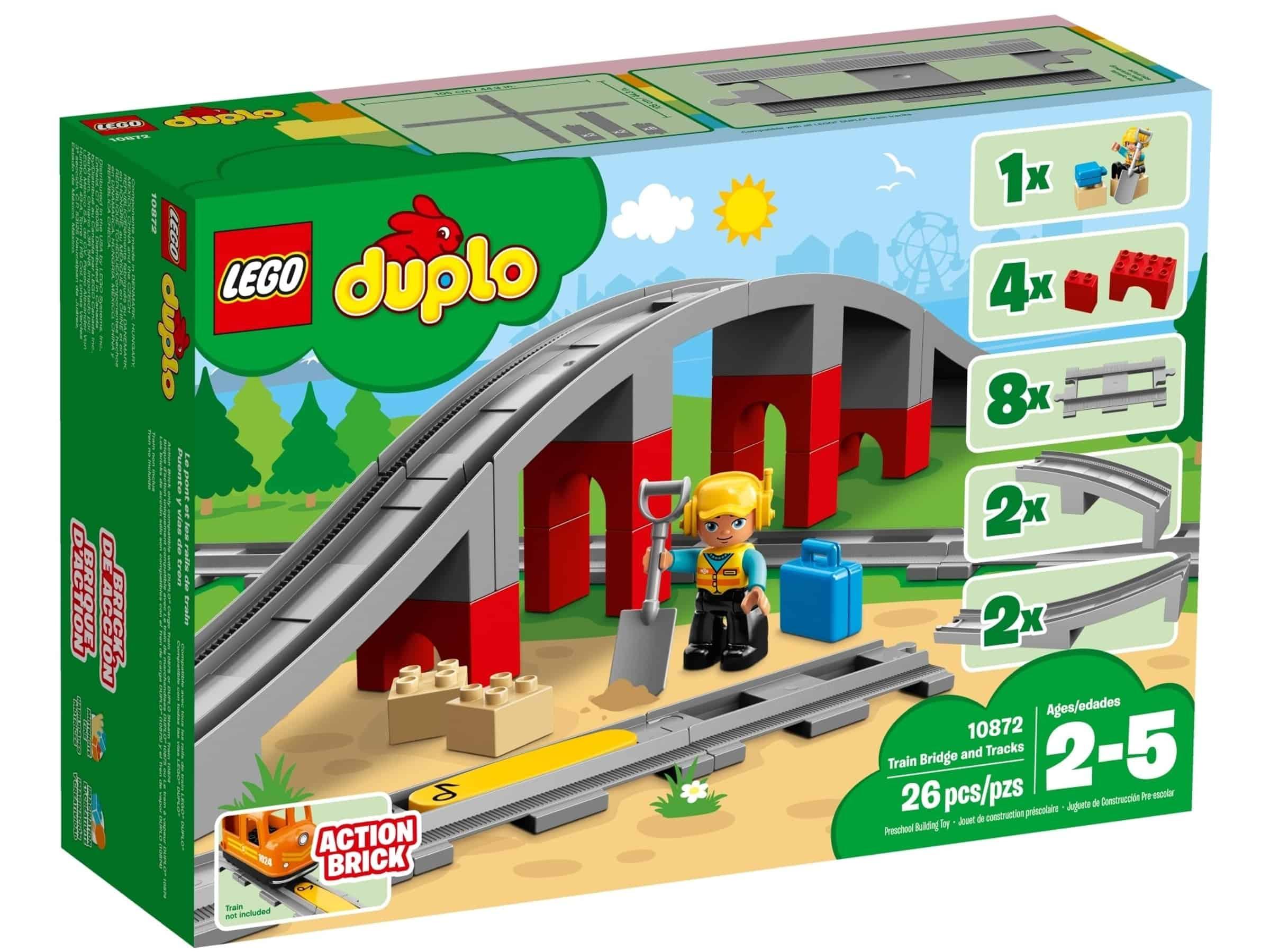 lego 10872 jernbanebro og togskinner