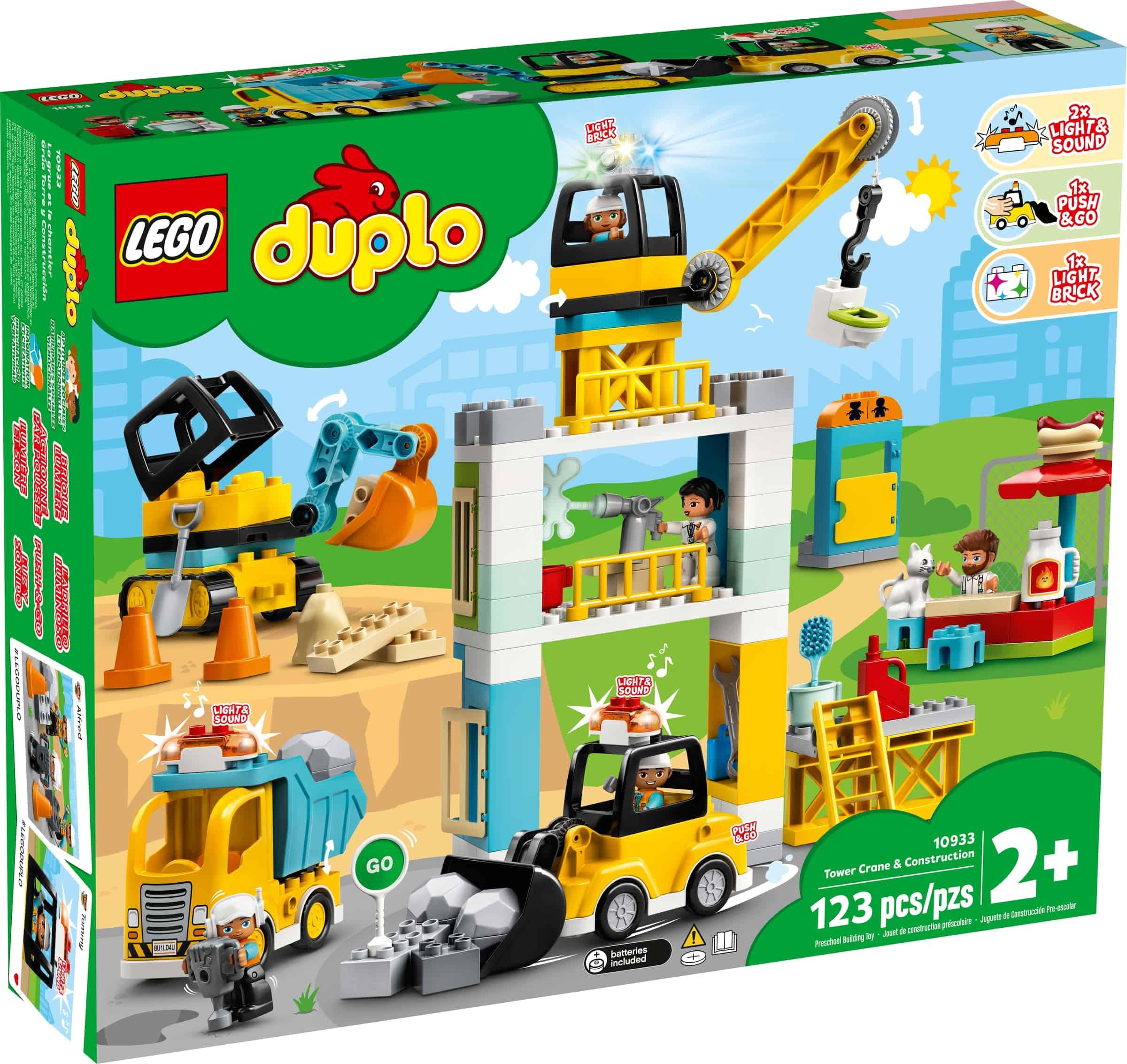 lego 10933 byggearbeid med tarnkran
