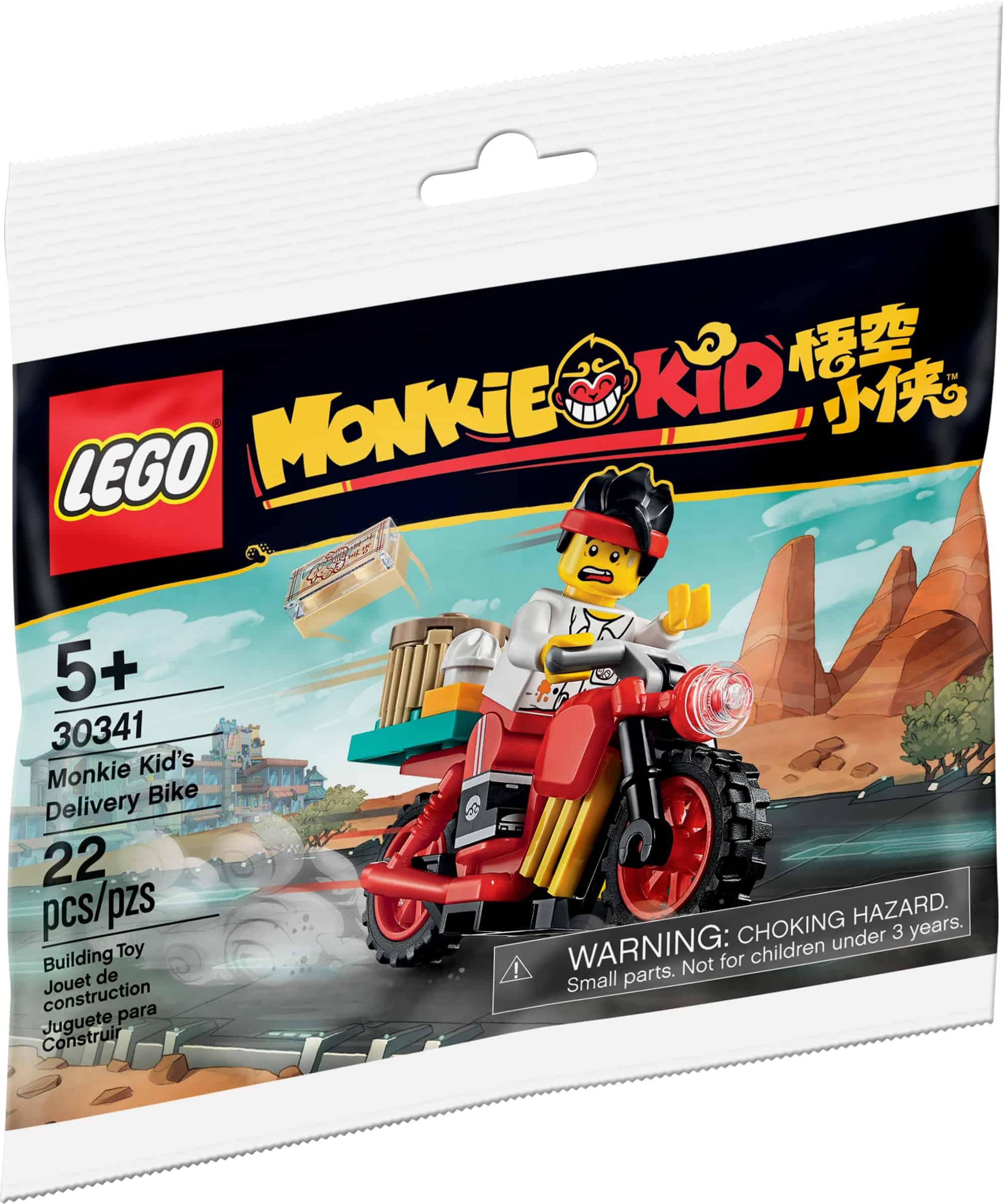 lego 30341 monkie kids budsykkel