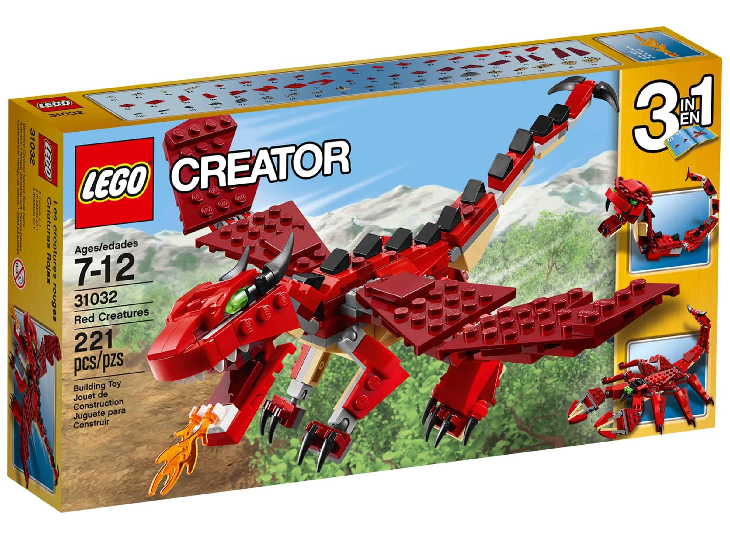 lego 31032 rode skapninger