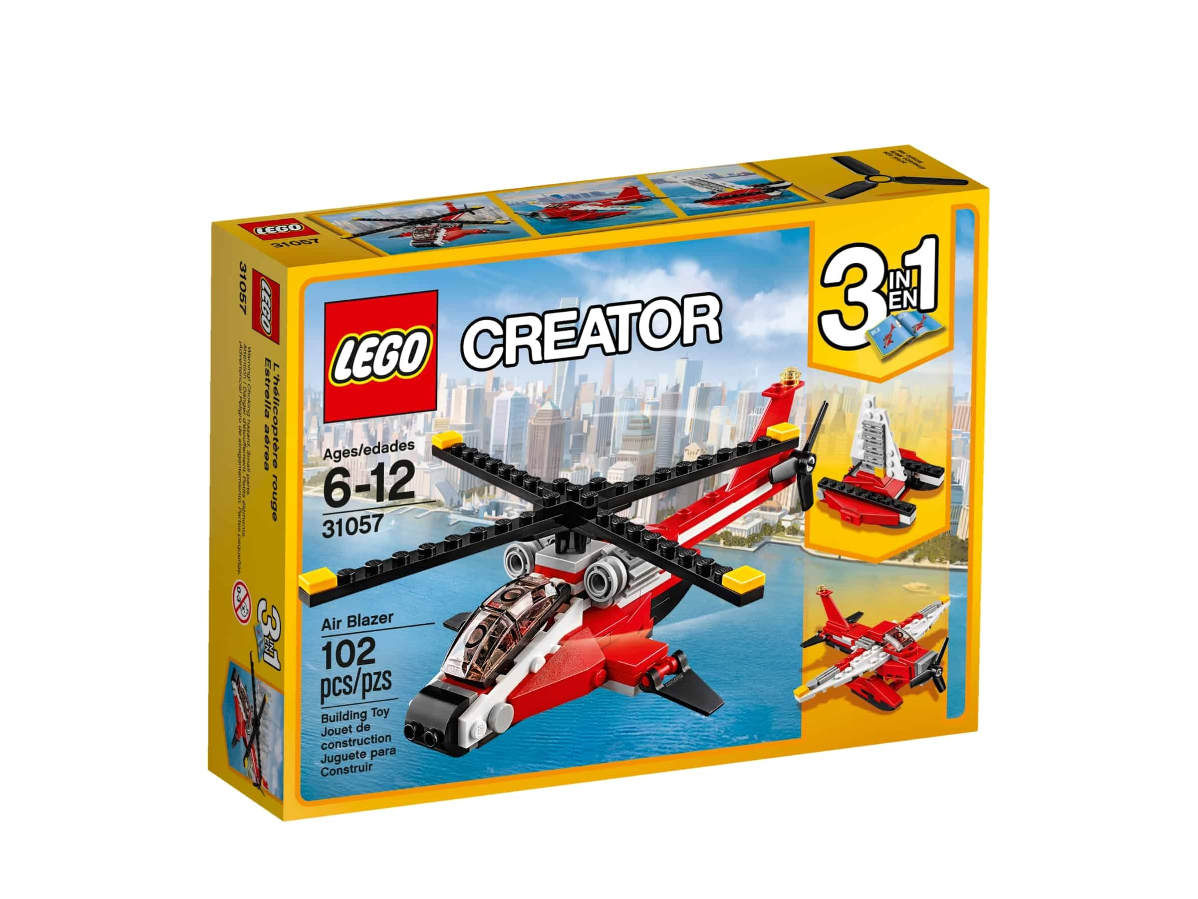 lego 31057 rodt helikopter