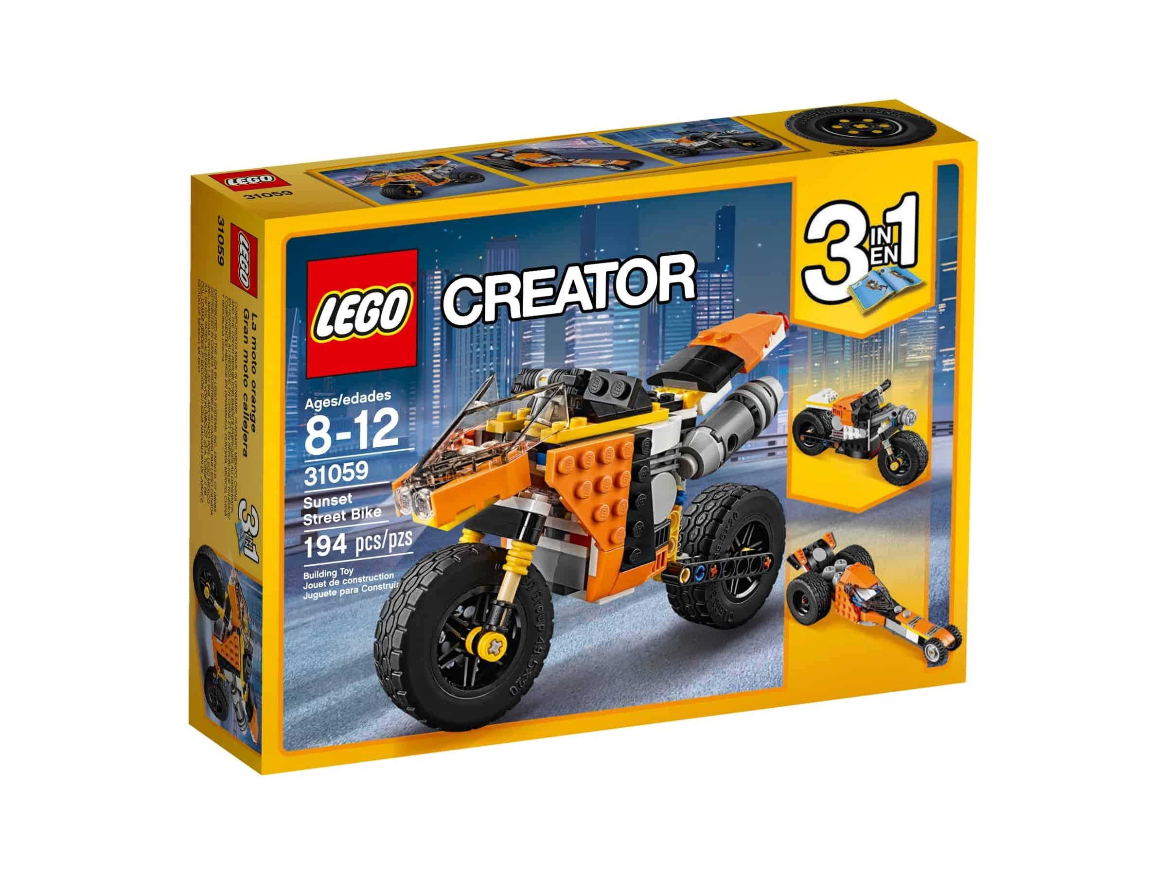 lego 31059 oransje motorsykkel