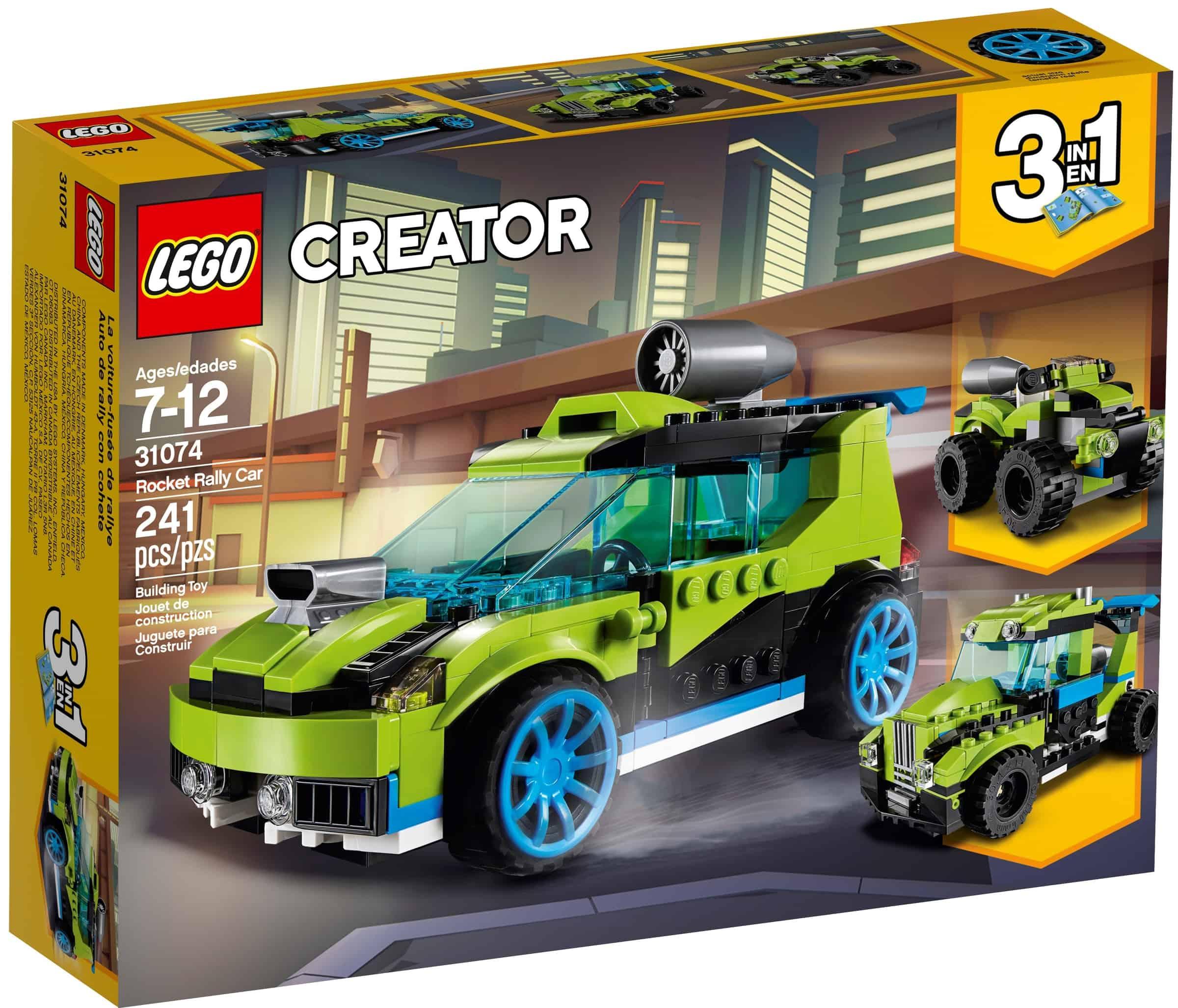 lego 31074 rakettdrevet rallybil