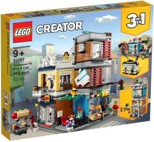 lego 31097 byhus med dyrebutikk og kafe
