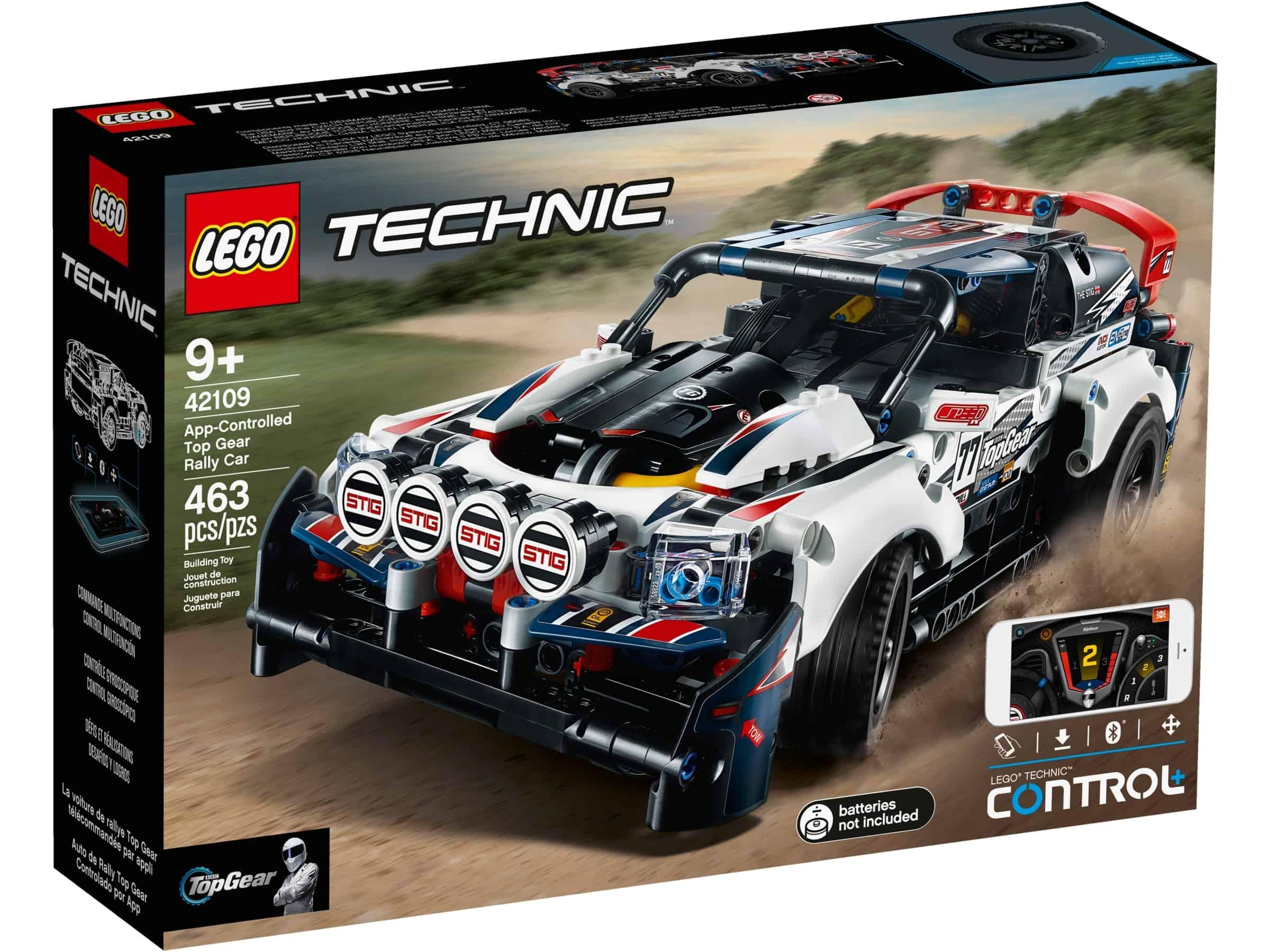lego 42109 app styrt top gear rallybil