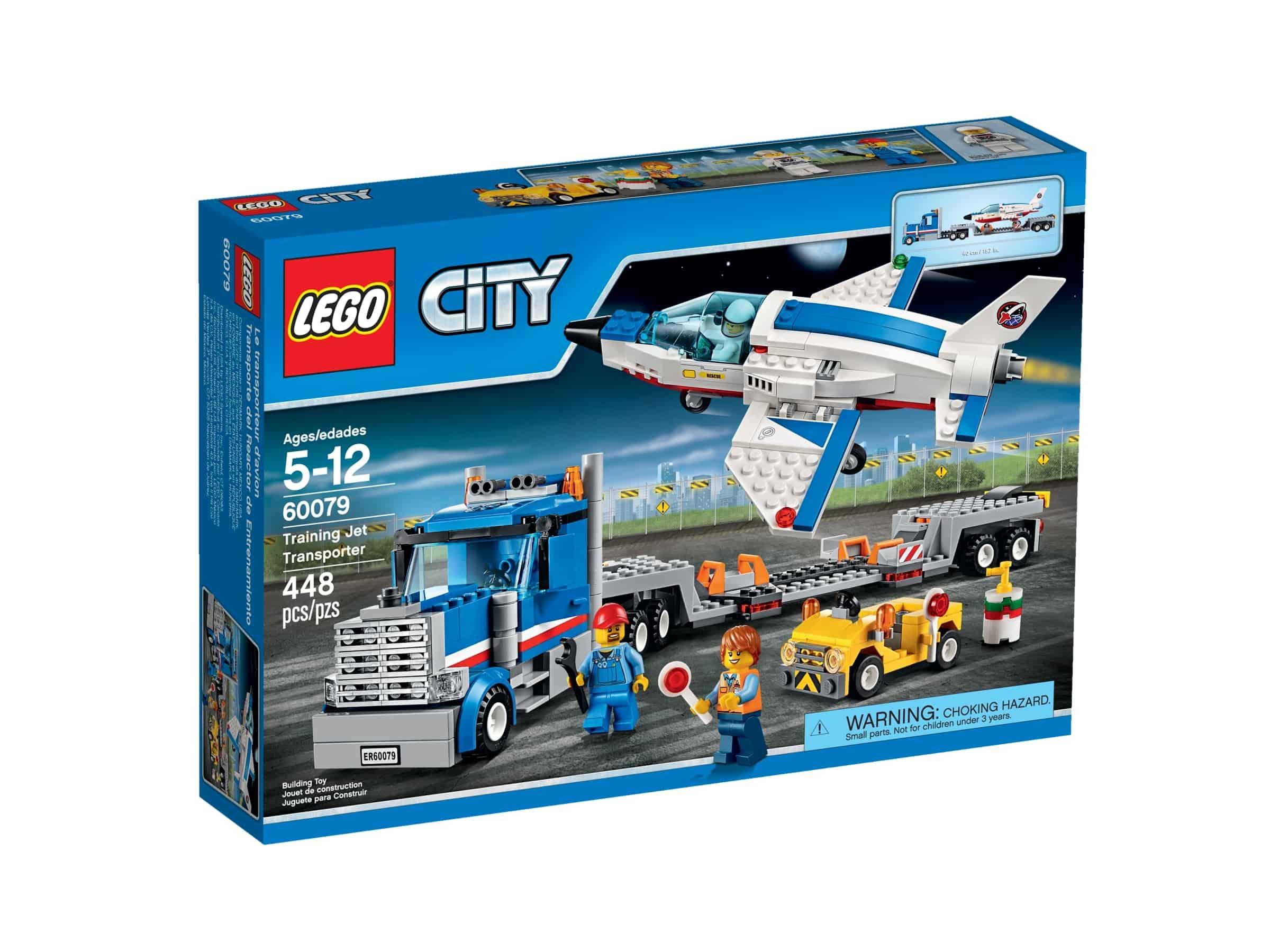 lego 60079 transporter med treningsjet