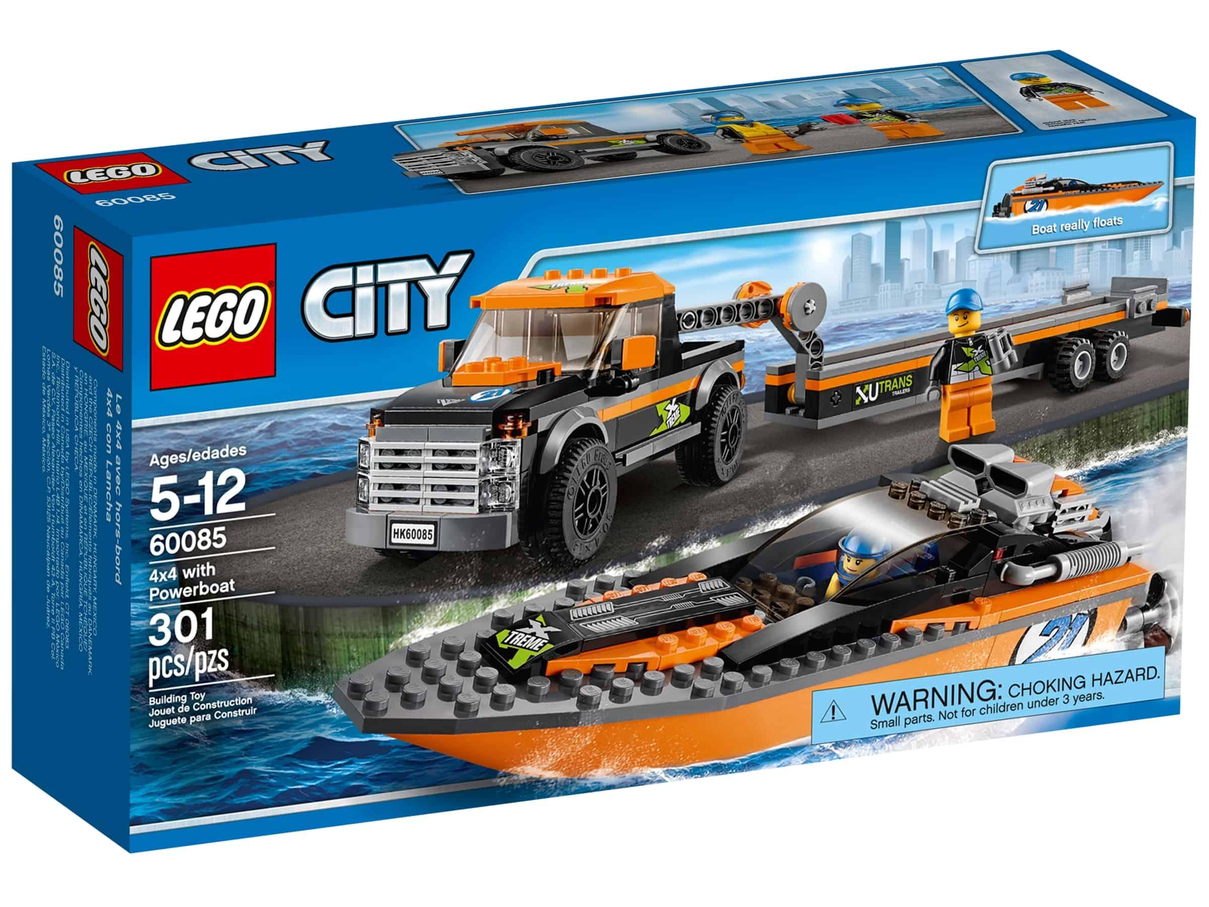 lego 60085 firehjulstrekker med speedbat