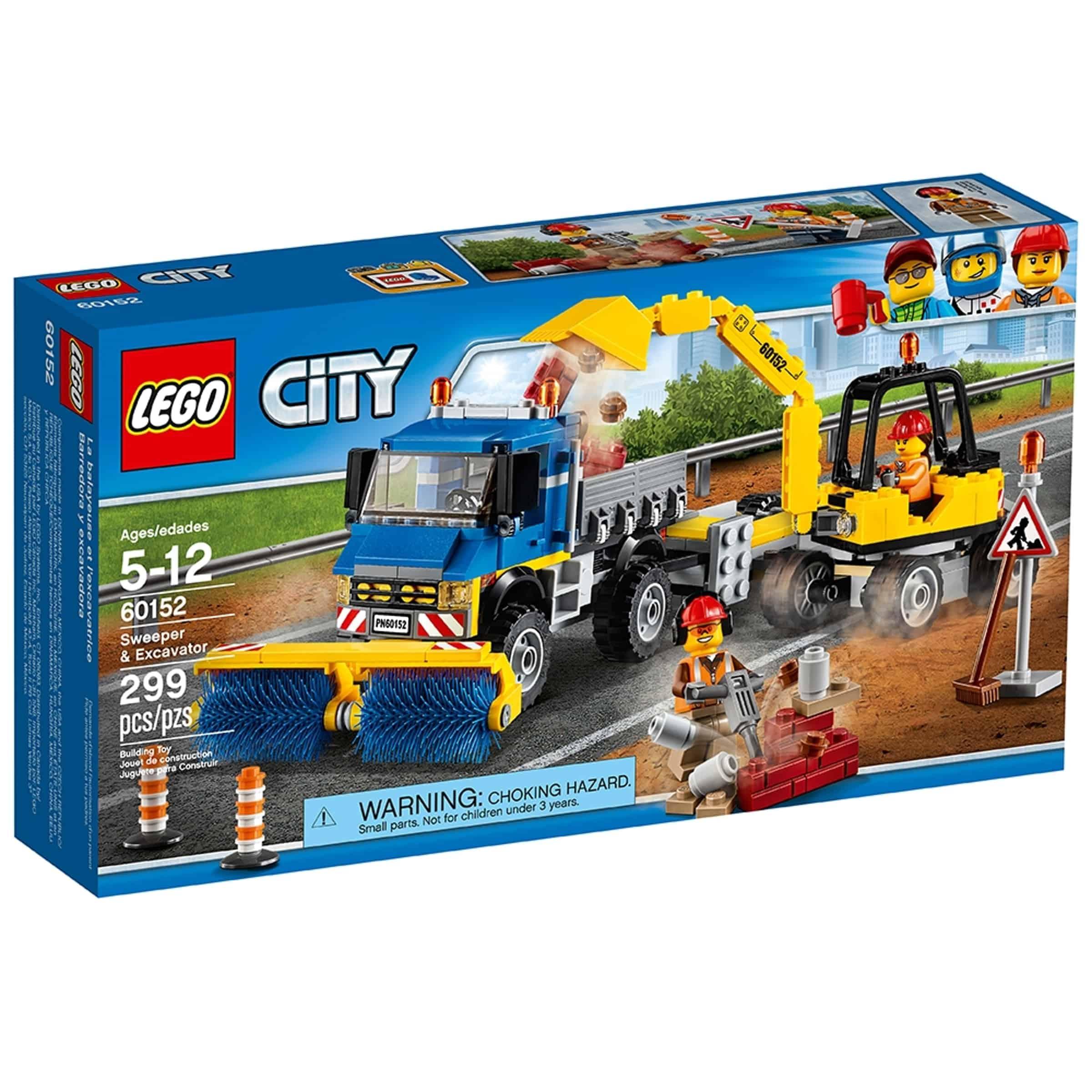 lego 60152 feiebil og gravemaskin