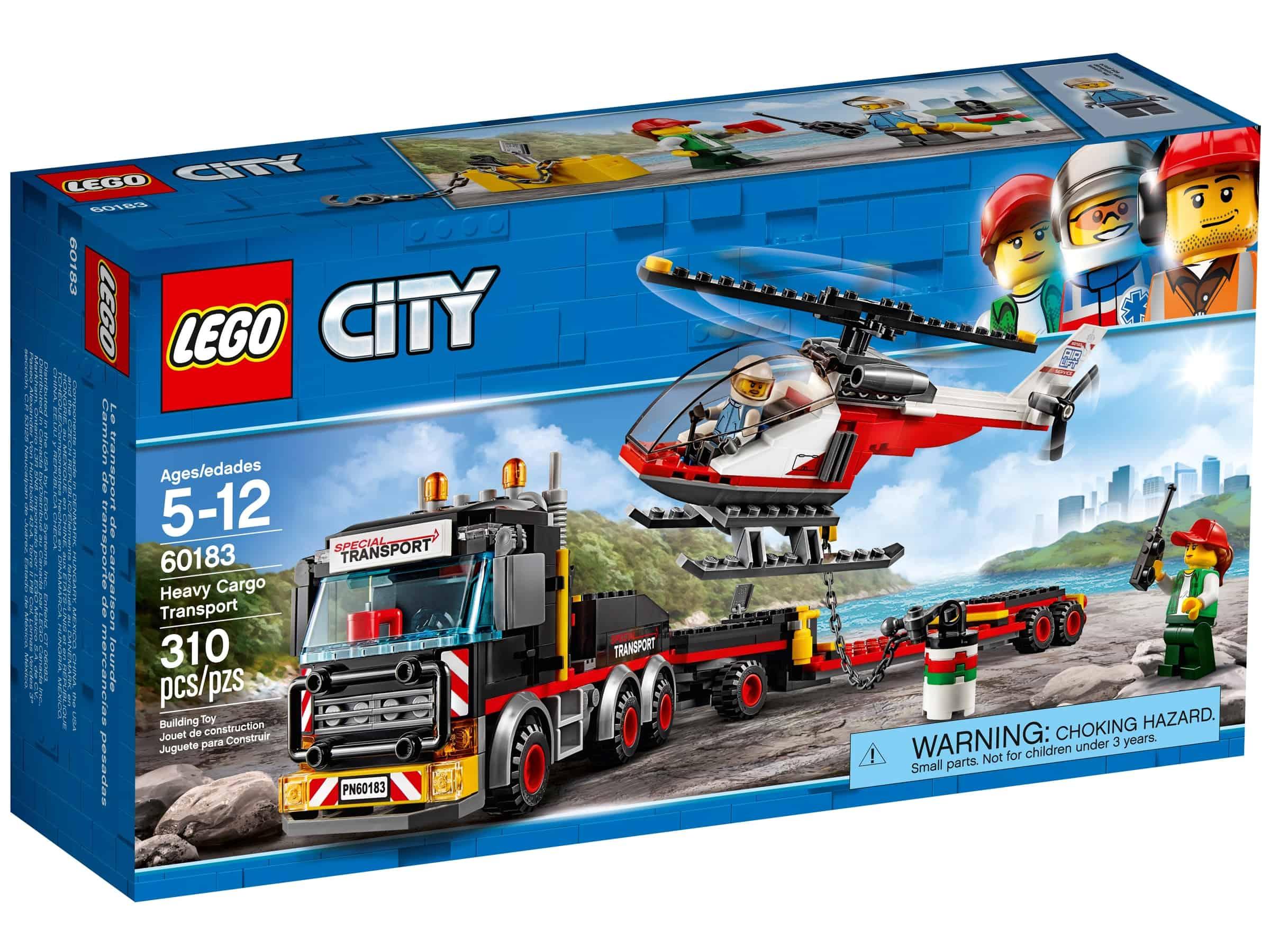 lego 60183 trailer med helikopter