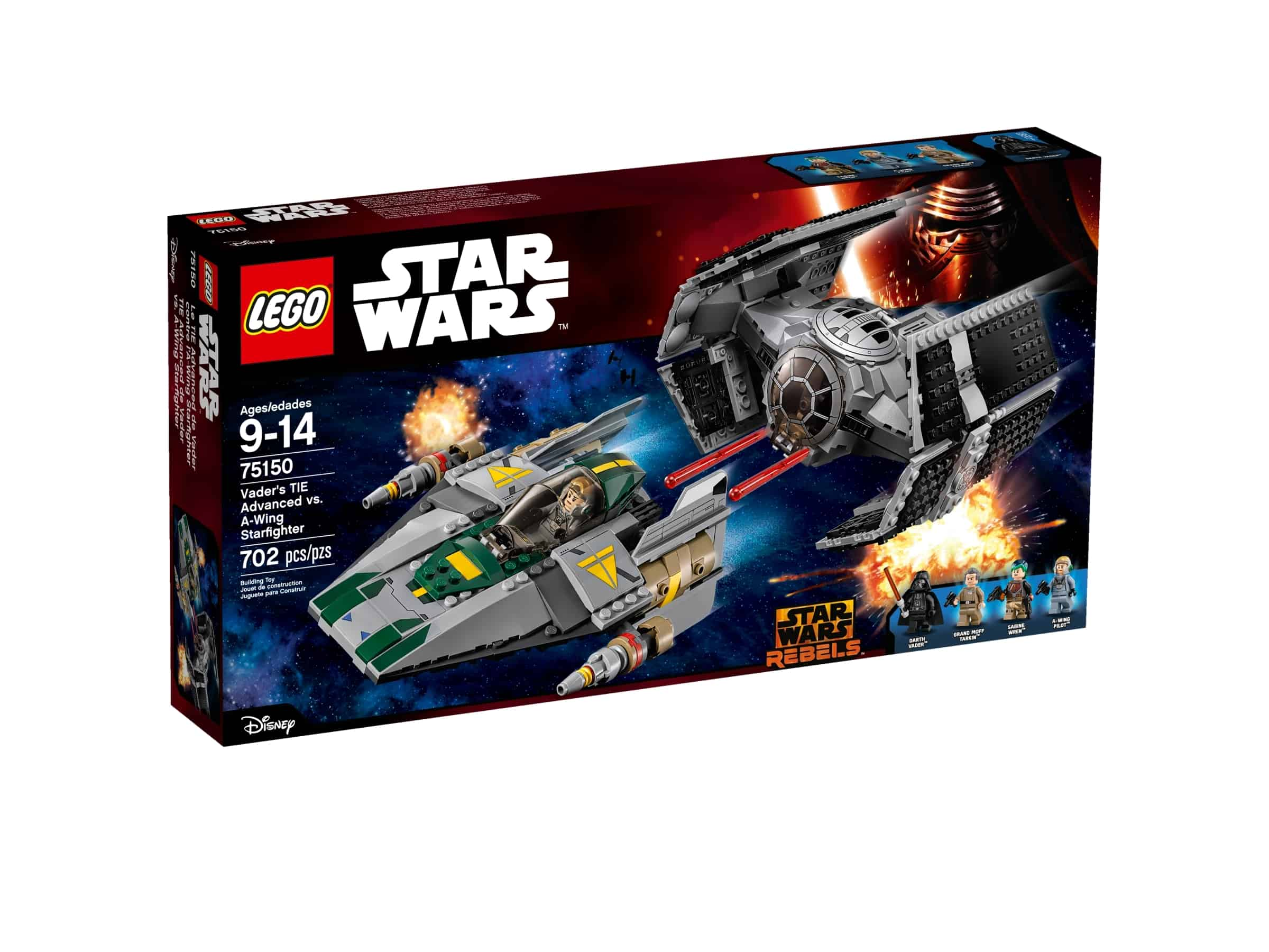 lego 75150 vaders tie advanced mot a wing starfighter
