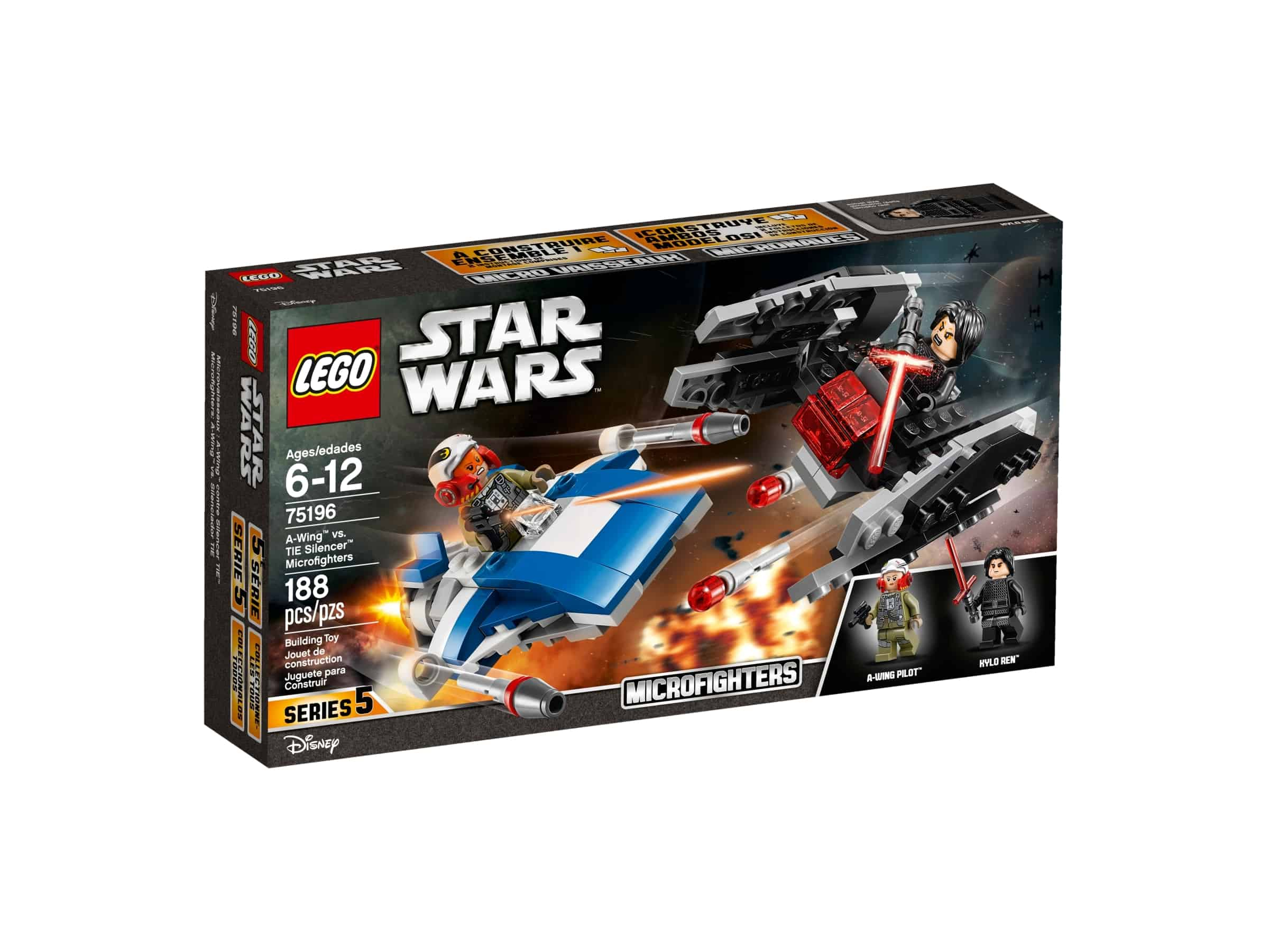 lego 75196 a wing mot tie silencer microfighters