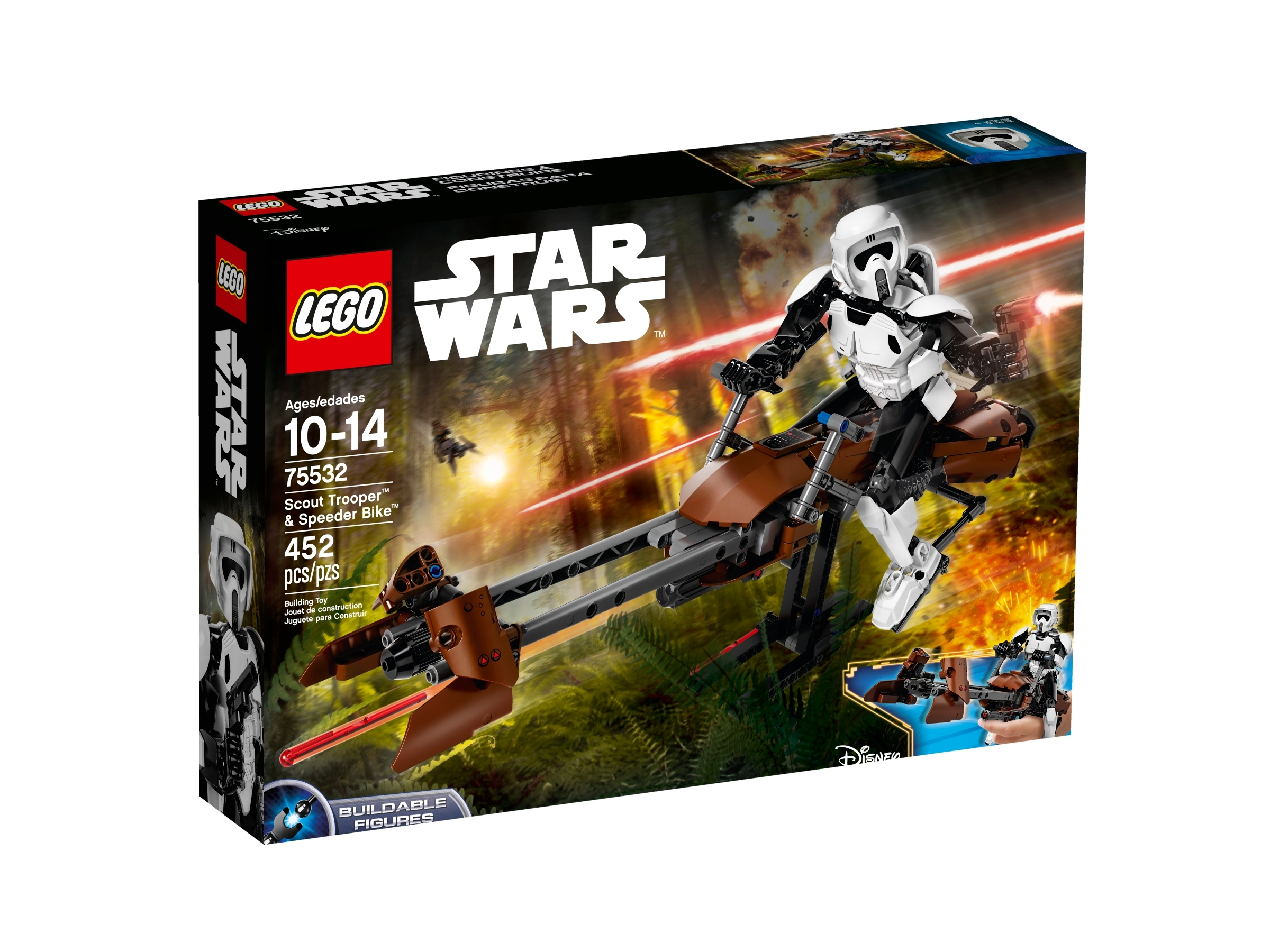 lego 75532 scout trooper og speeder bike