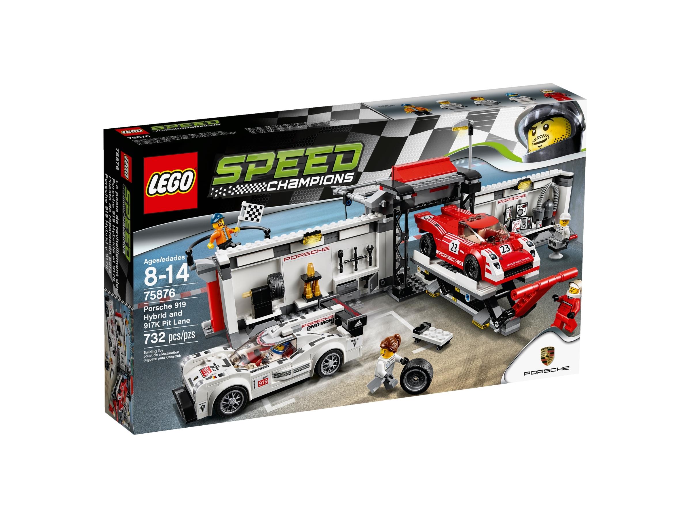 lego 75876 porsche 919 hybrid og 917k pitlane
