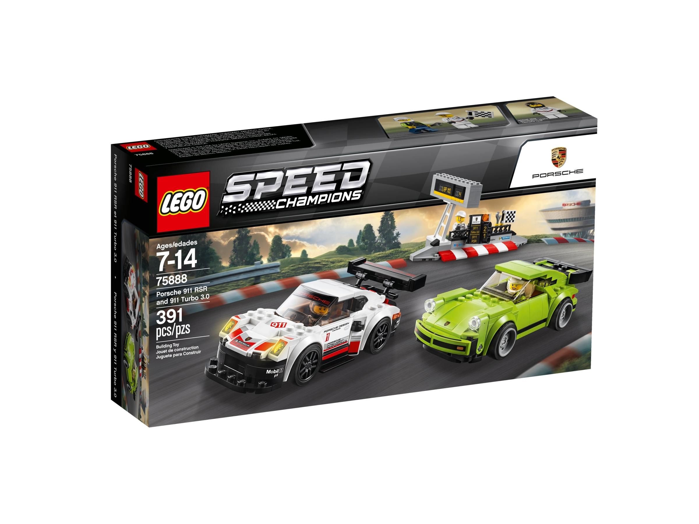 lego 75888 porsche 911 rsr og 911 turbo 3 0