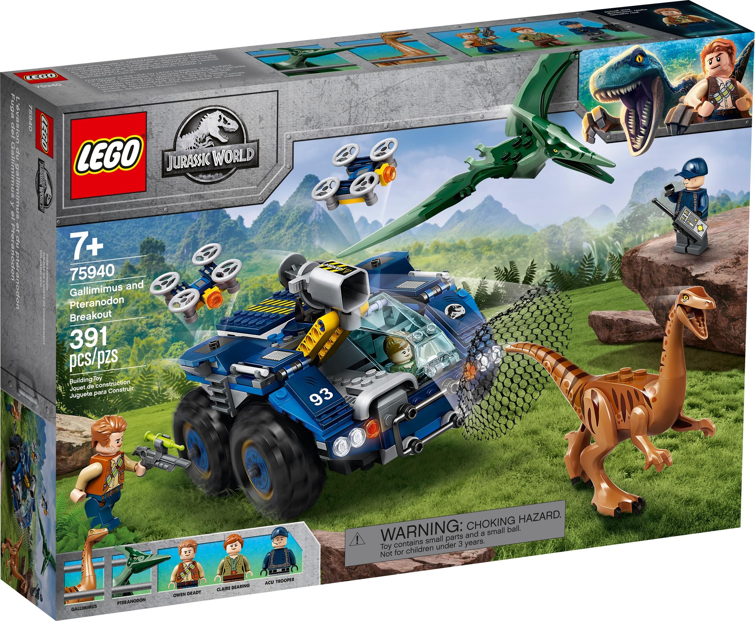 lego 75940 gallimimus og pteranodon oppdrag dinofangst