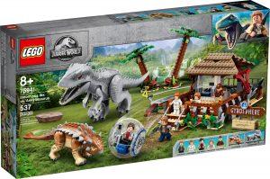lego 75941 gyrokule eventyr indominus rex mot ankylosaurus