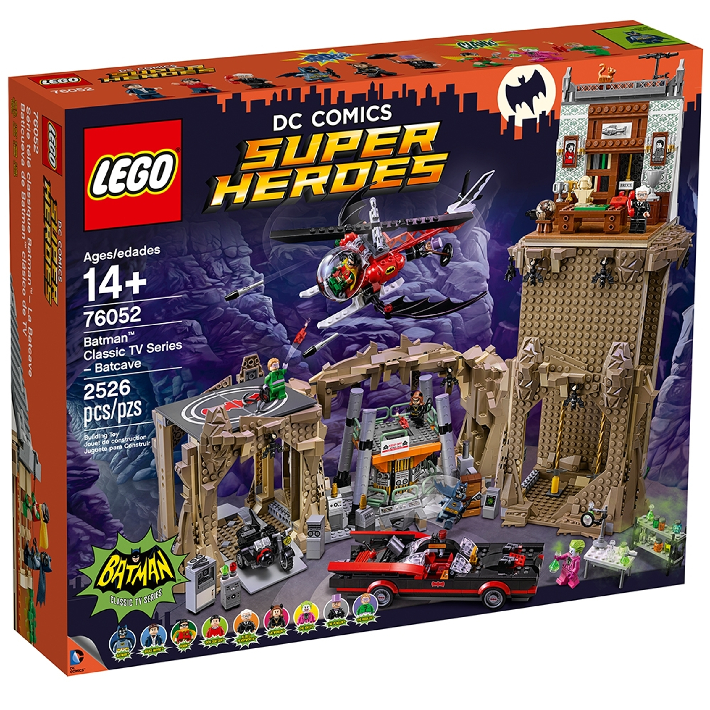 lego 76052 klassisk batman tv serie bathulen