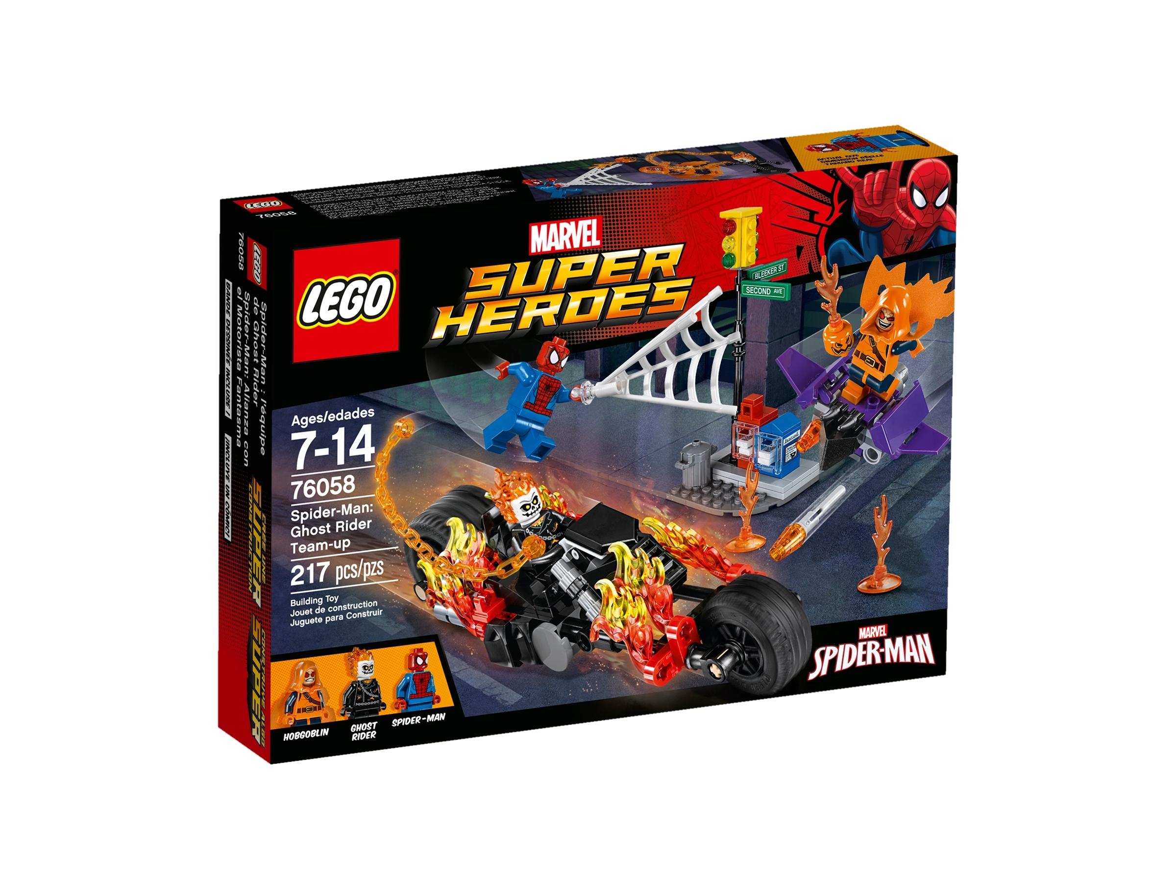 lego 76058 spider man og ghost rider slar seg sammen