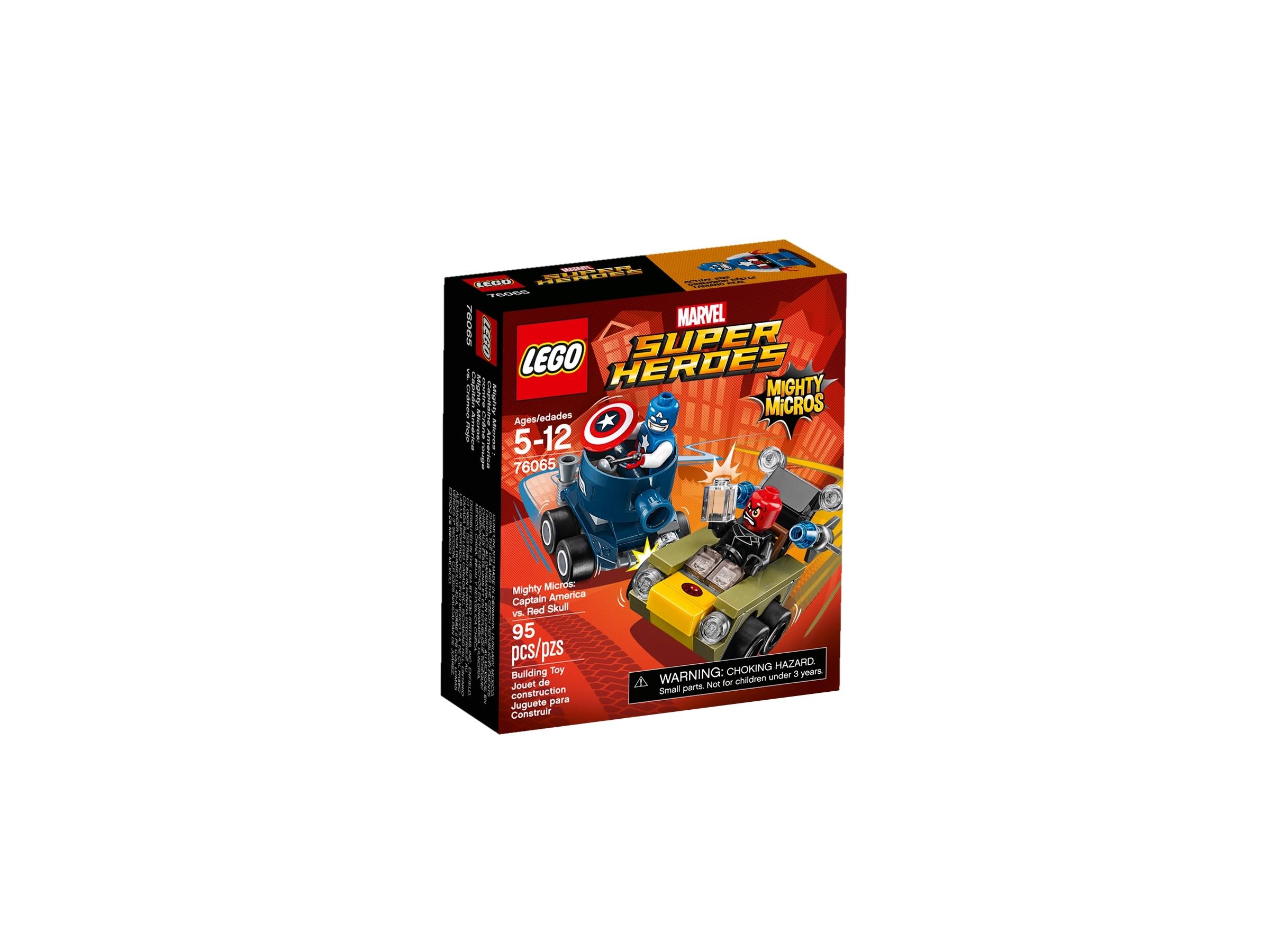 lego 76065 mighty micros captain america mot red skull
