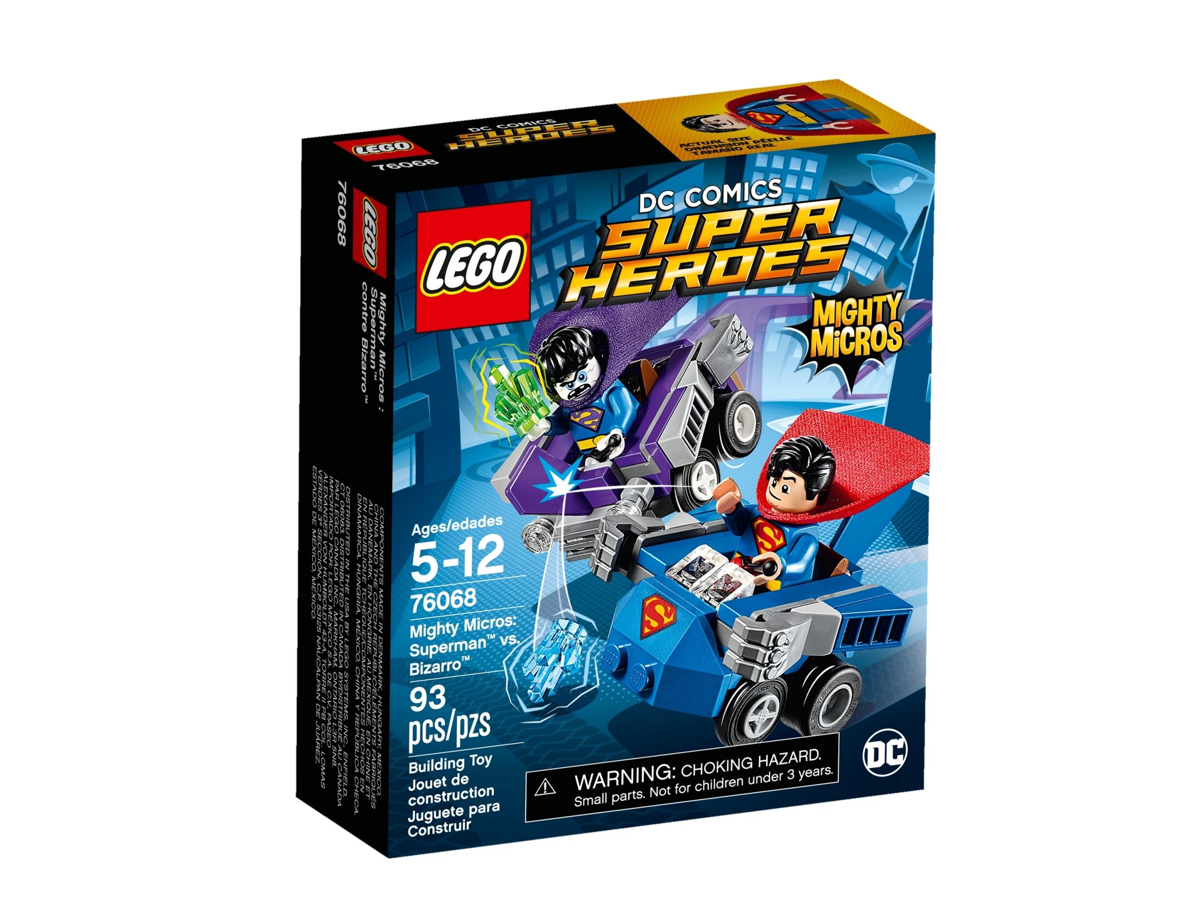 lego 76068 mighty micros superman mot bizarro