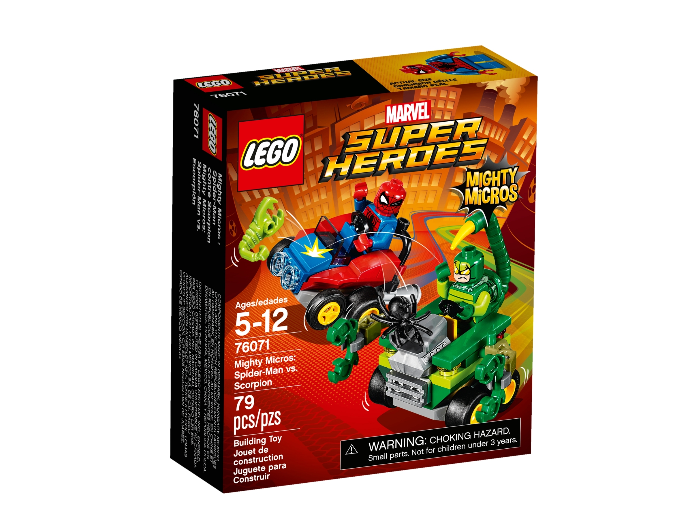 lego 76071 mighty micros spider man mot scorpion