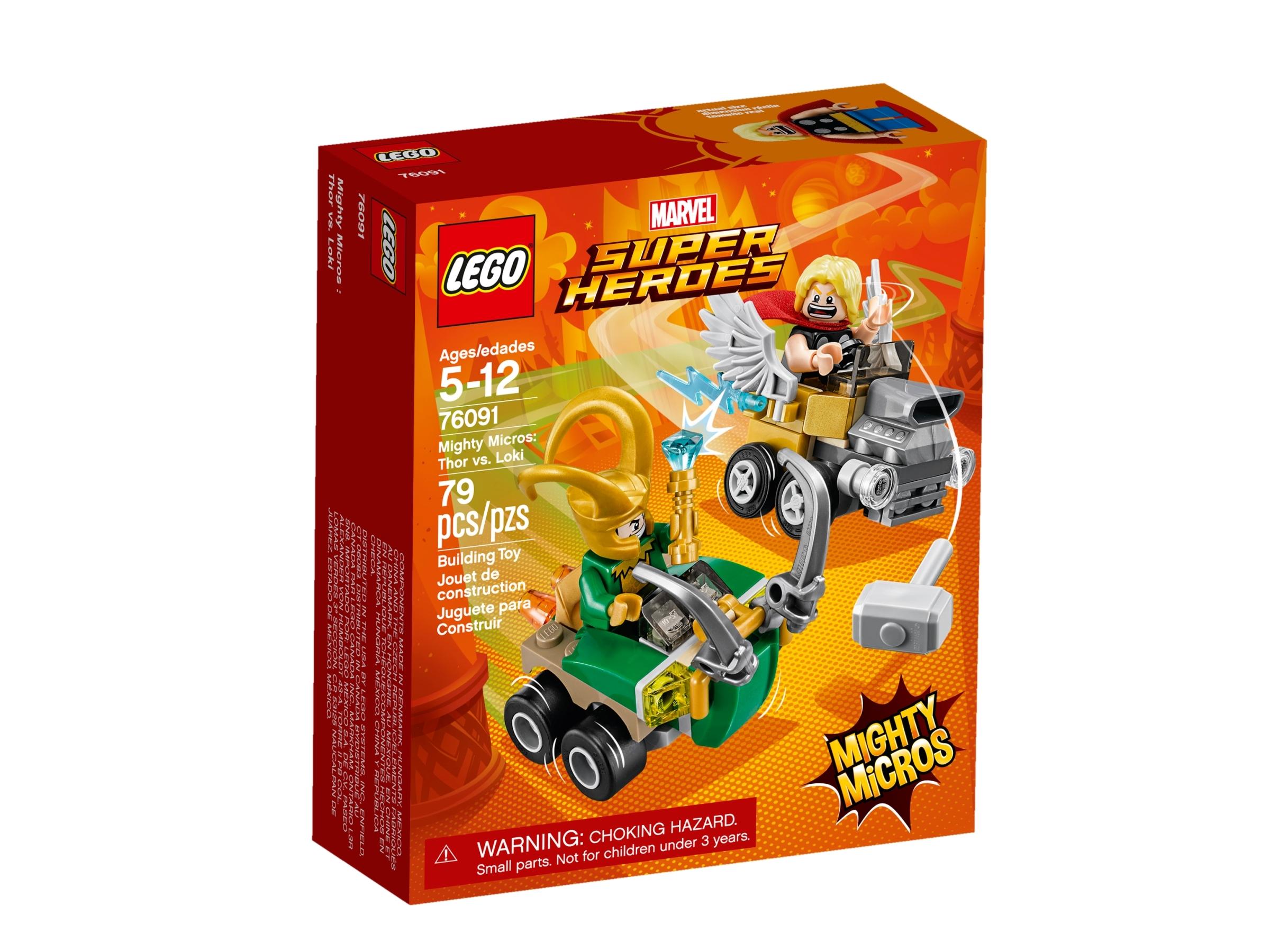 lego 76091 mighty micros thor mot loki