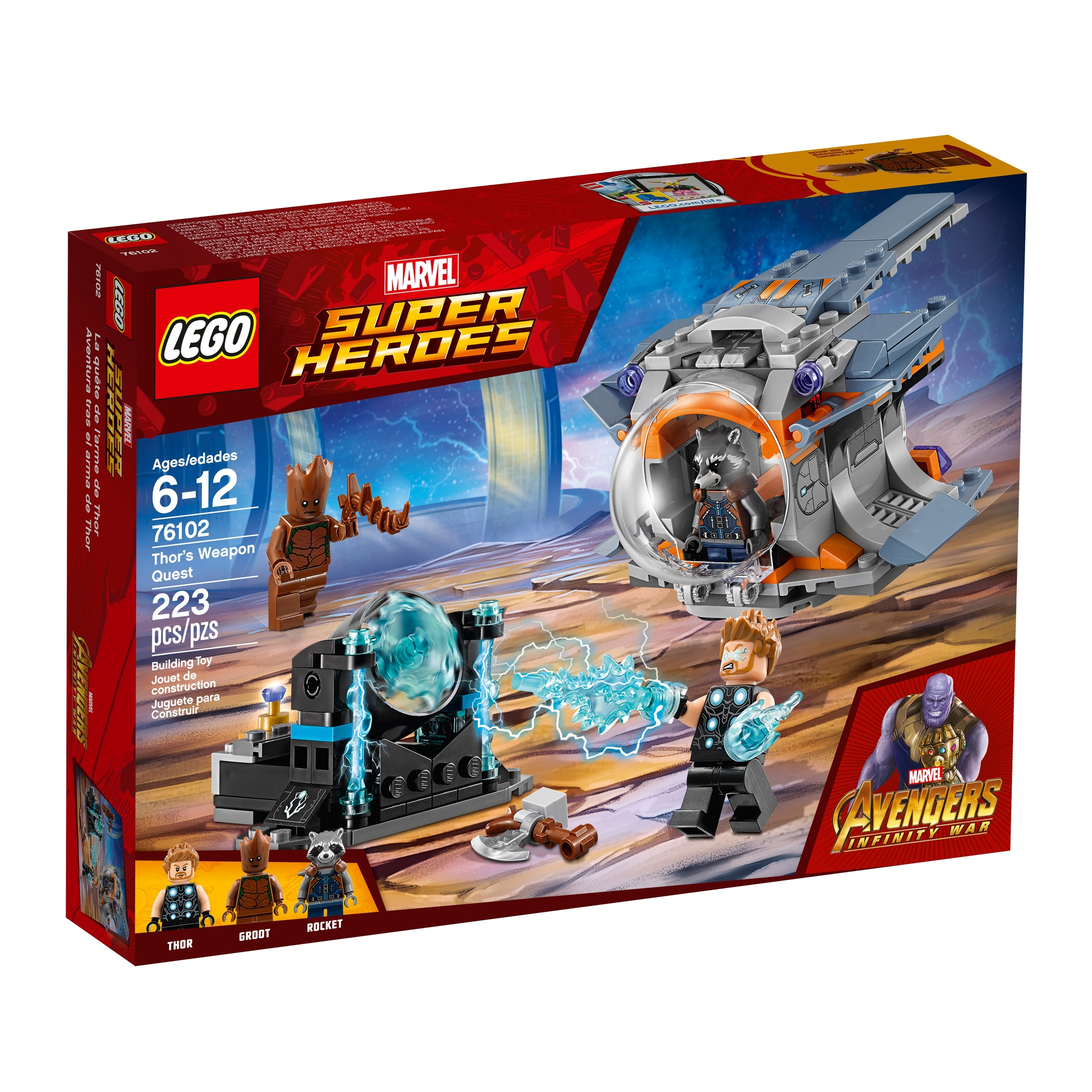 lego 76102 thors vapentokt