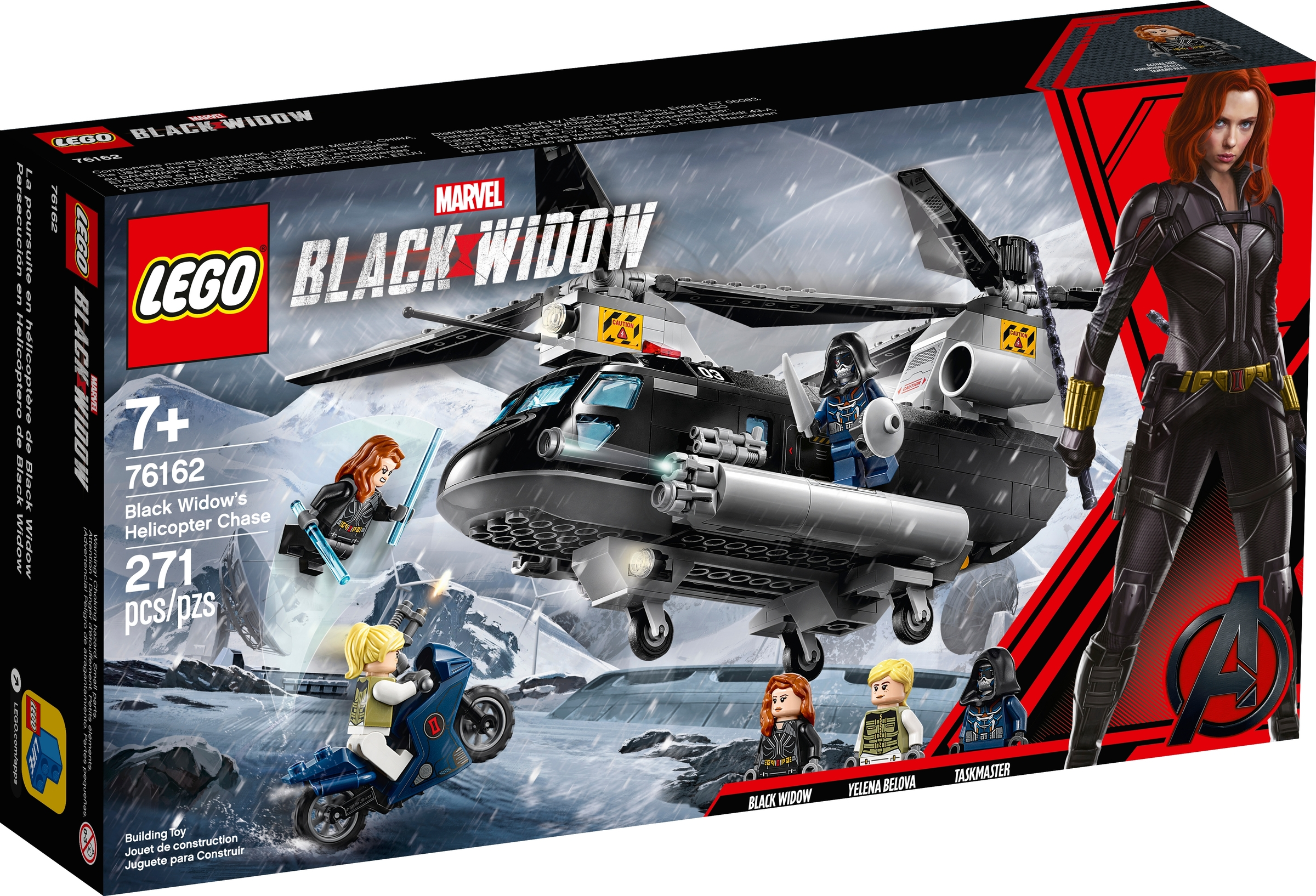 lego 76162 black widows helikopterjakt