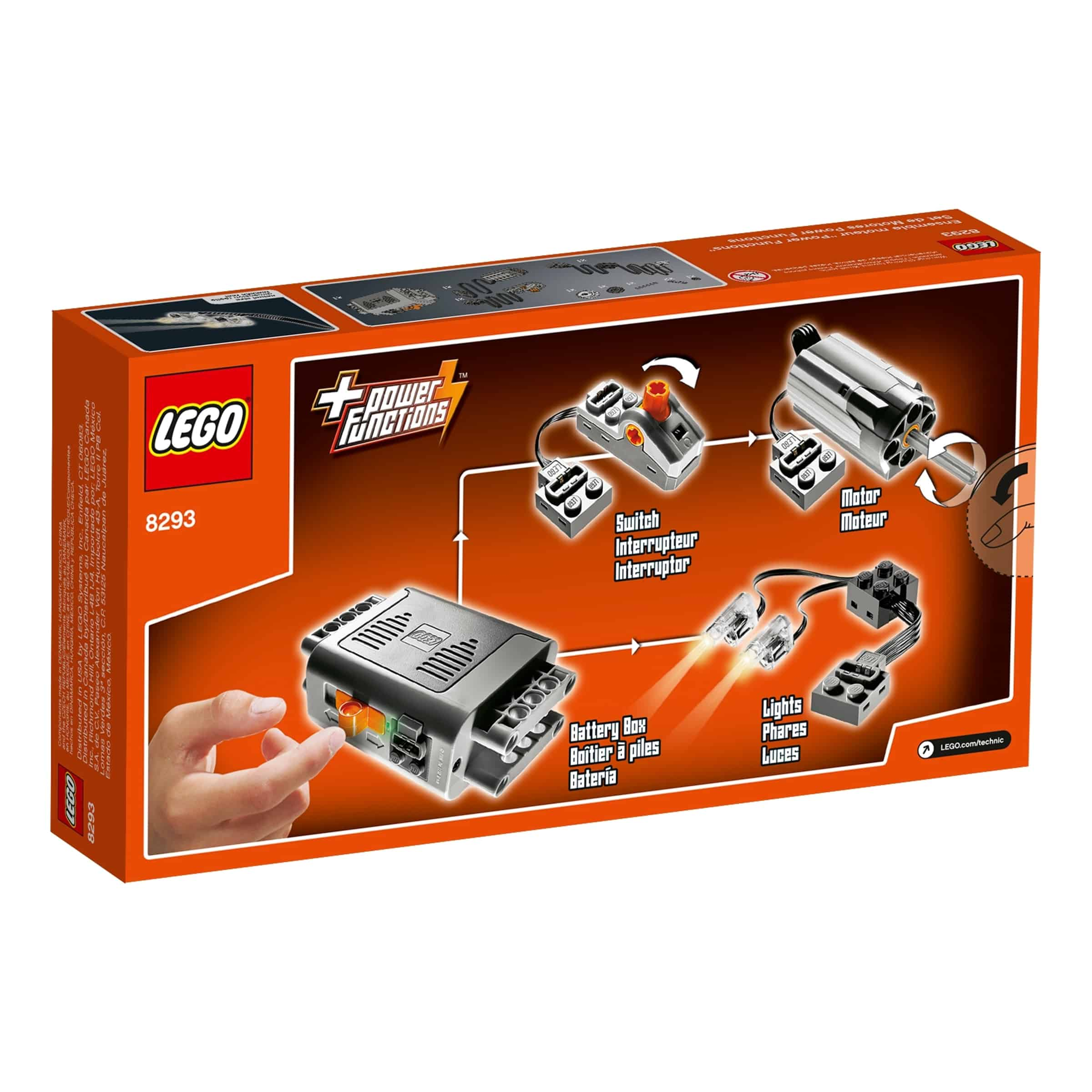 lego 8293 power functions motorsett