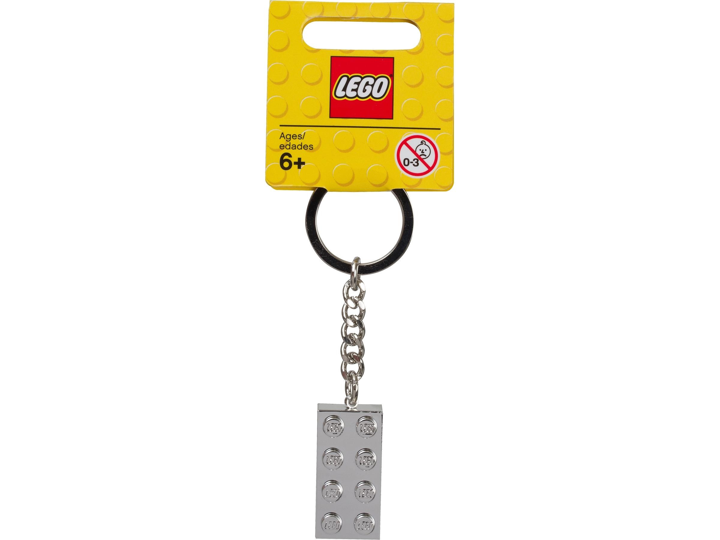 lego 851406 nokkelring med metallisert 2 x 4 kloss