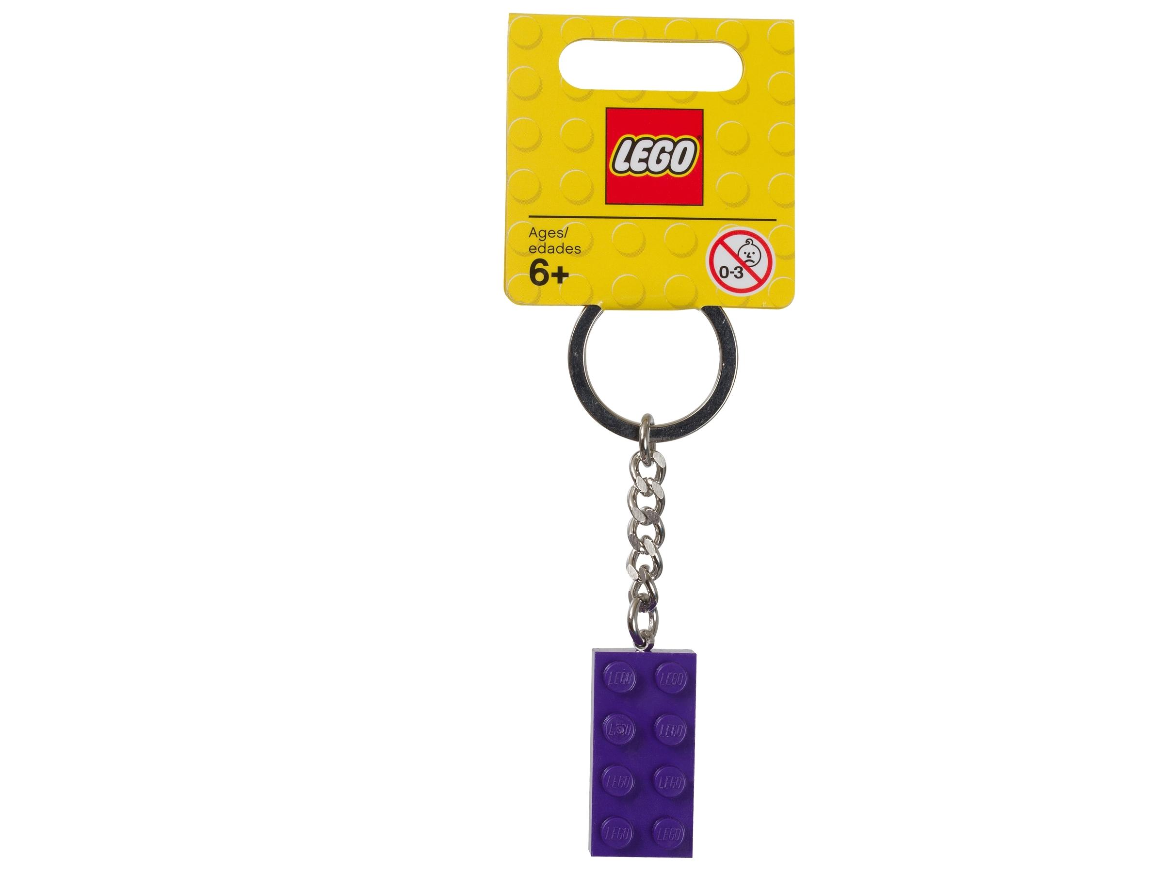 lego 853379 nokkelring med lilla 2 x 4 kloss