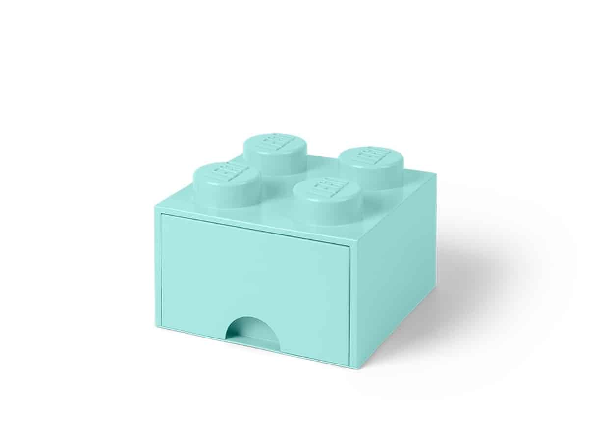 lysebla 4 knotters lego 5005714 oppbevaringskloss med skuff