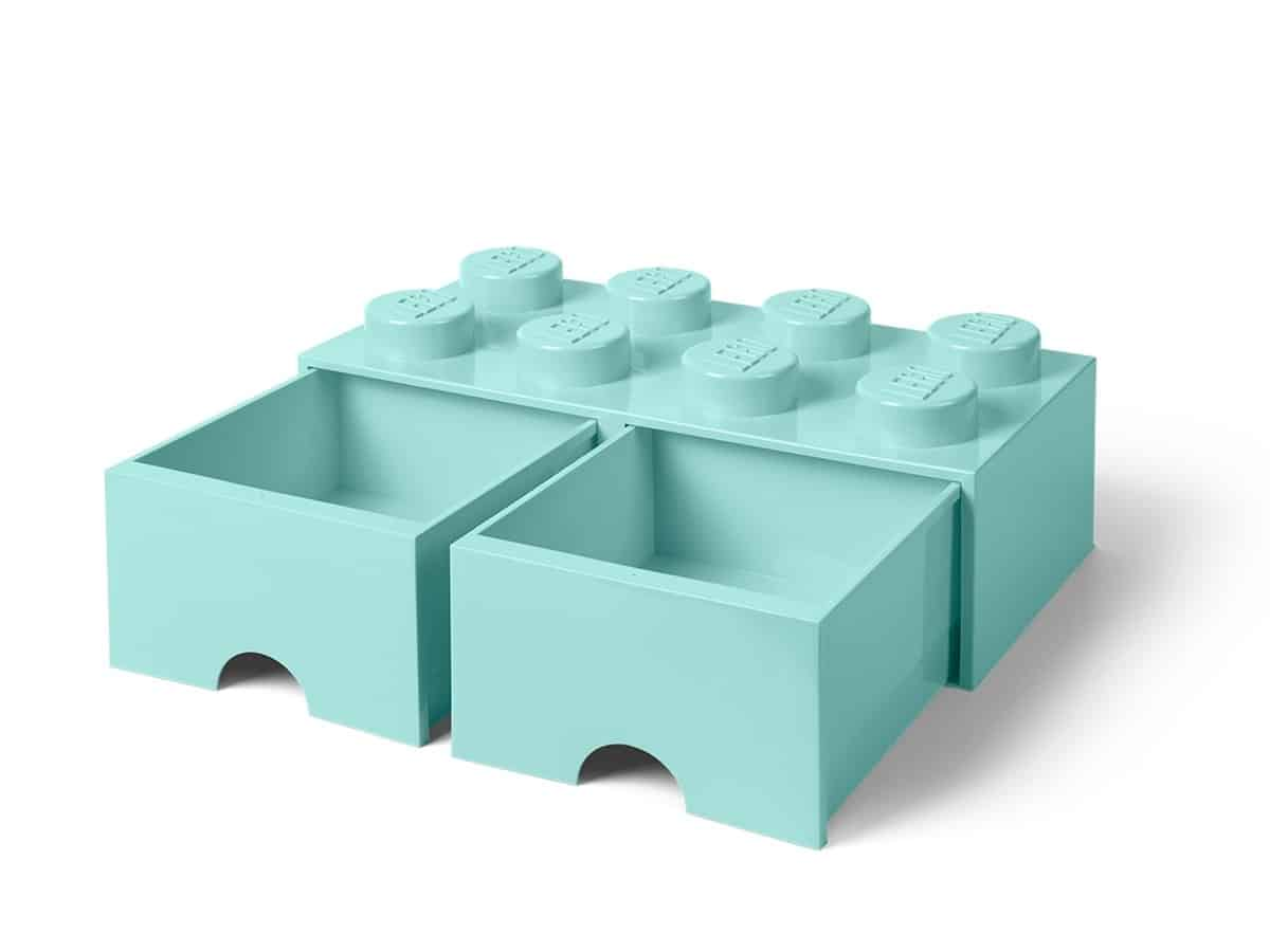 lysebla 8 knotters lego 5006182 oppbevaringskloss med skuff