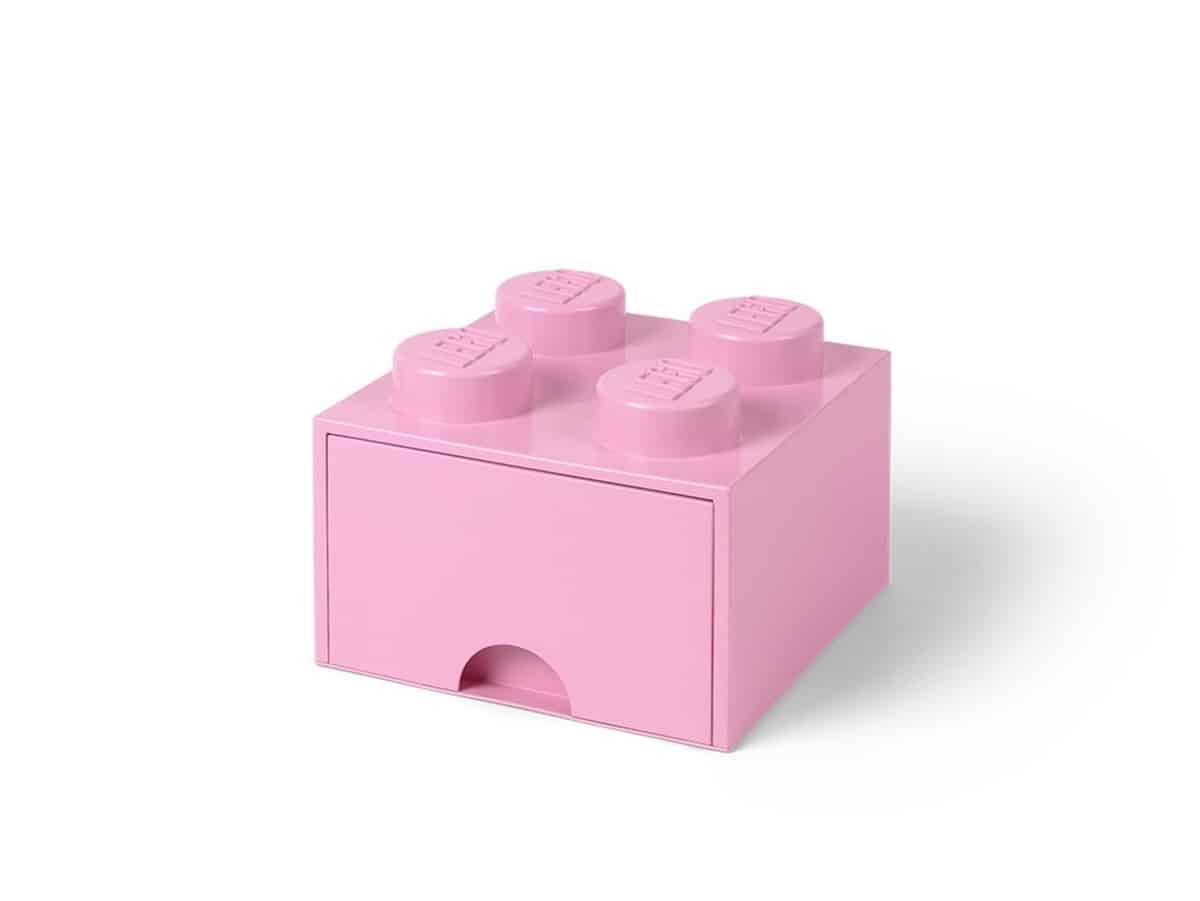 lyselilla 4 knotters lego 5006173 oppbevaringskloss med skuff