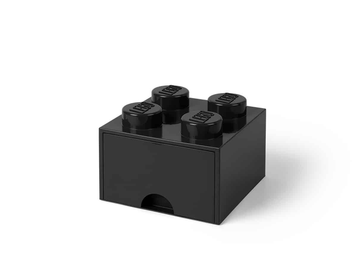 svart 4 knotters lego 5005711 oppbevaringskloss med skuff