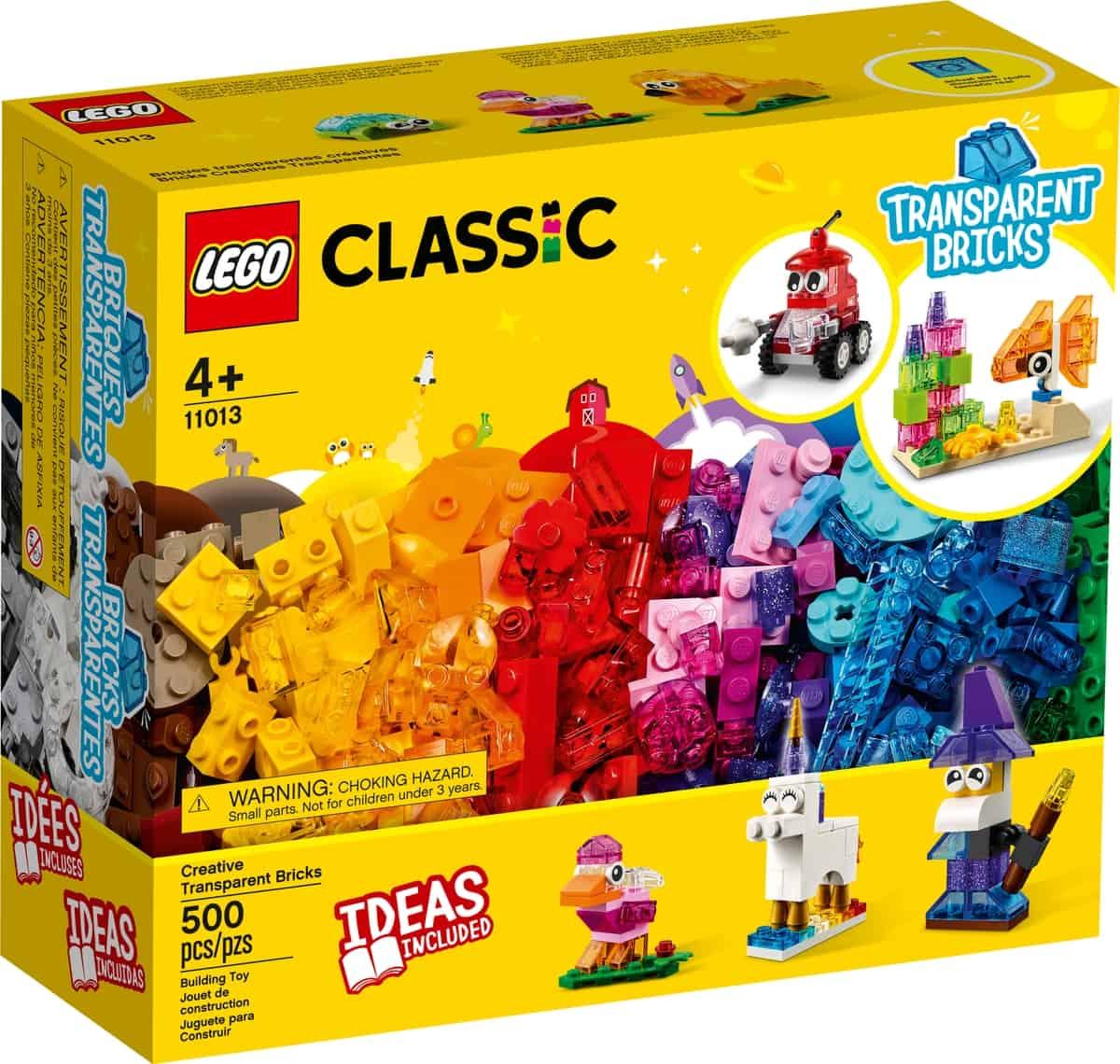 lego 11013 kreativitet med gjennomsiktige klosser