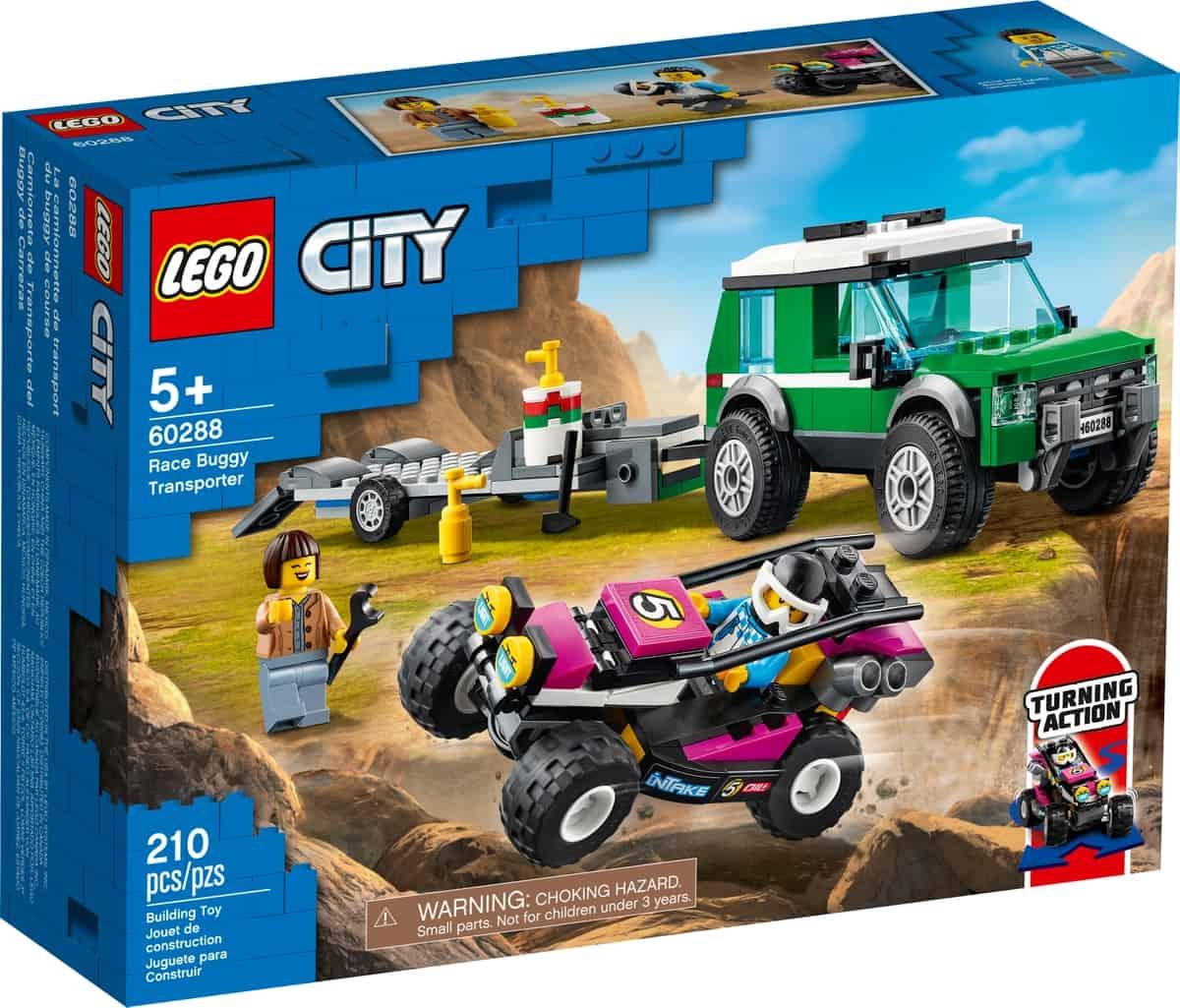 lego 60288 hengertransport med racerbuggy