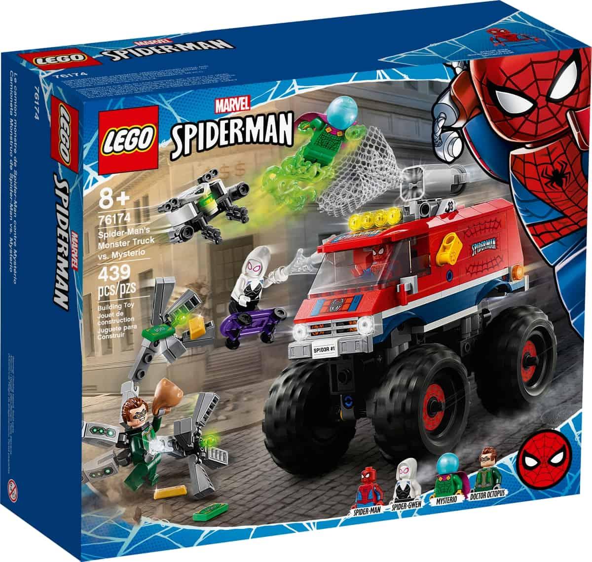 lego 76174 spider mans monstertruck mot mysterio