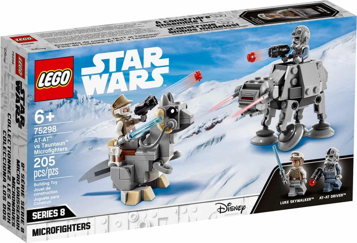 lego 75298 at at mot tauntaun microfightere