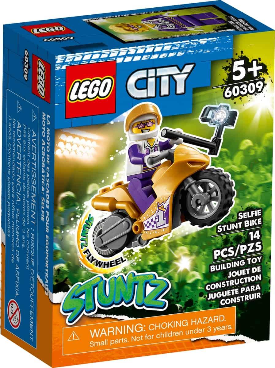 lego 60309 stuntmotorsykkel med selfiestang