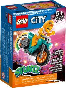 lego 60310 stuntmotorsykkel og kyllingdrakt figur