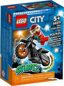lego 60311 stuntmotorsykkel og flammedrakt figur