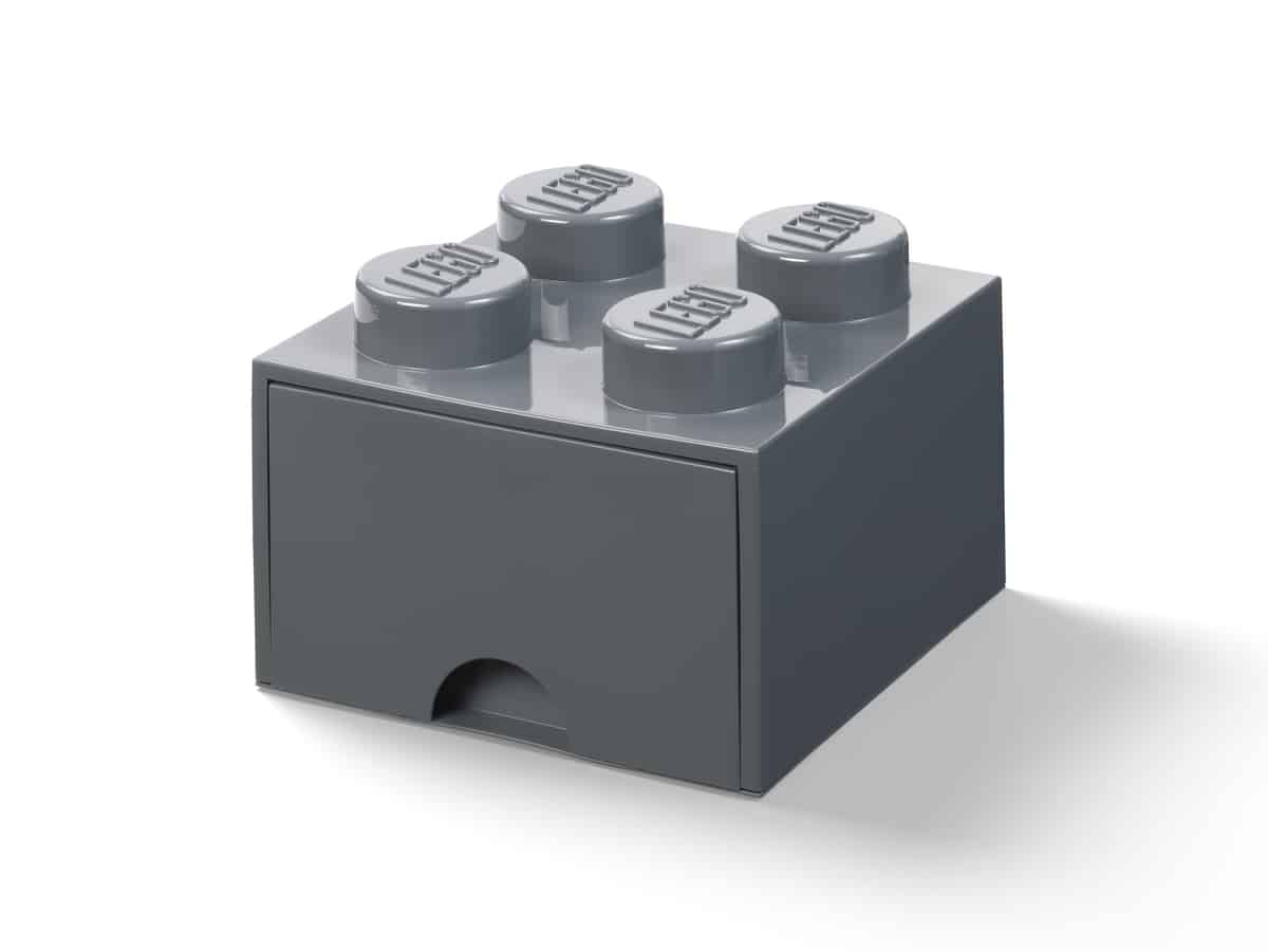 lego 5006328 morkegra fireknotters oppbevaringskloss med skuff