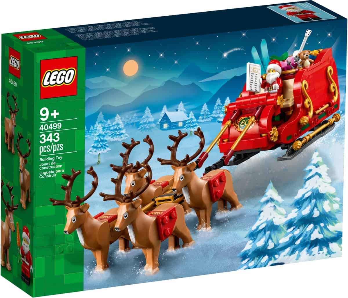 lego 40499 julenissens slede