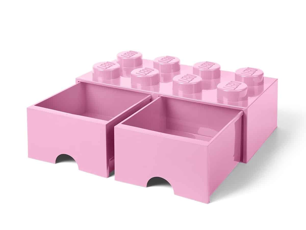 lego 5006134 lyselilla 8 knotters oppbevaringskloss med skuffer