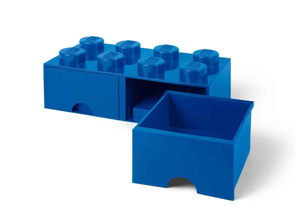 lego 5006143 bl oppbevaringskloss med skuffer og tte knotter
